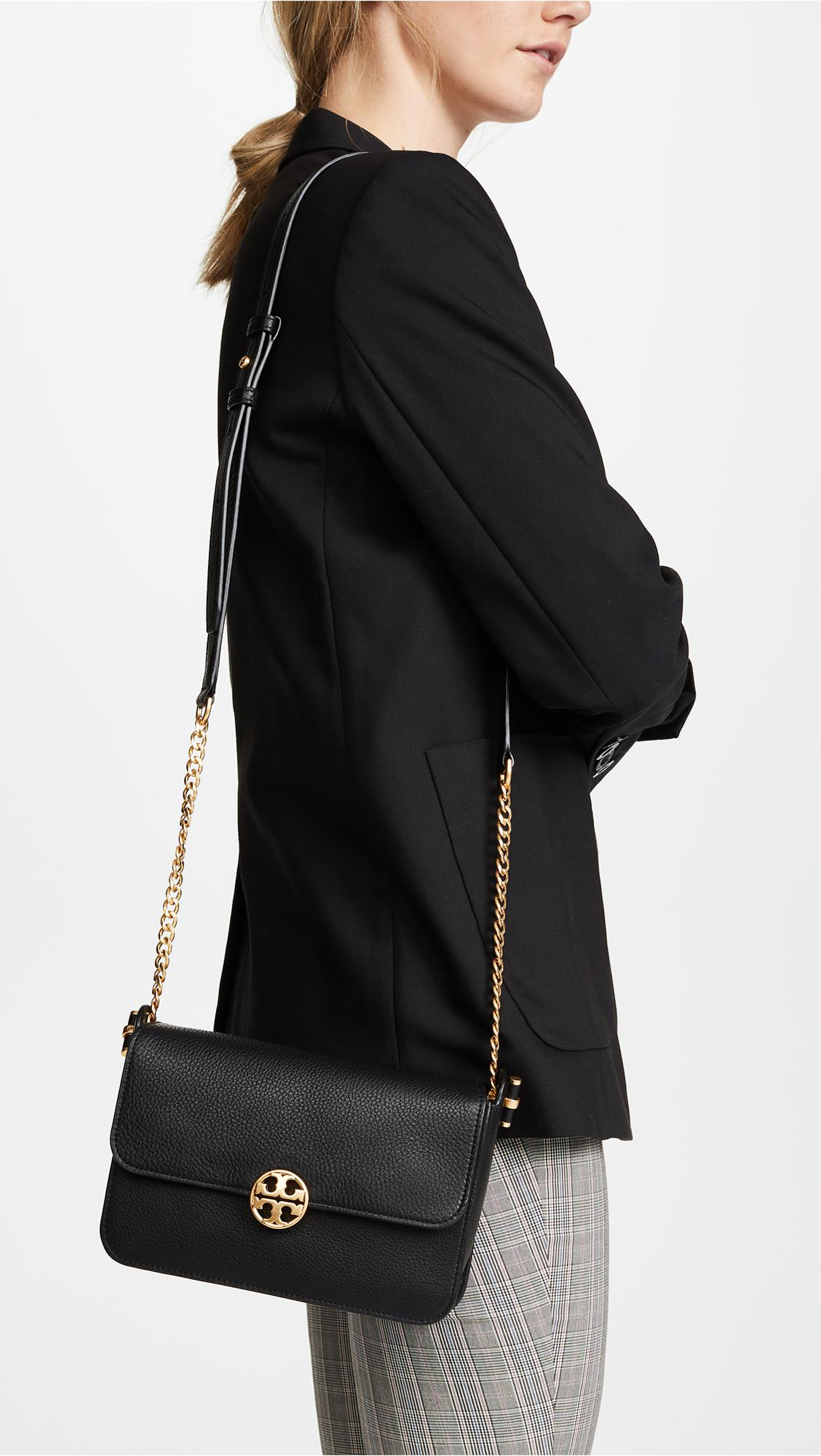4ff24ccad1 Lyst - Tory Burch Chelsea Cross Body Bag in Black