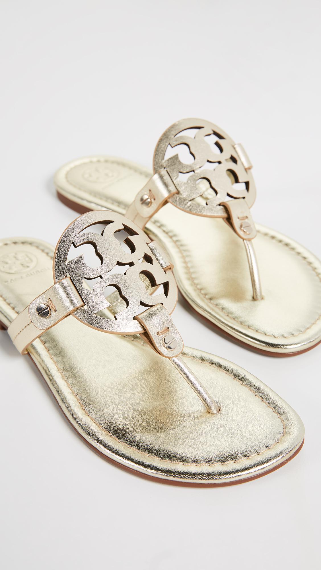 d89cba15d Lyst - Tory Burch Miller Thong Sandals - Save 15%