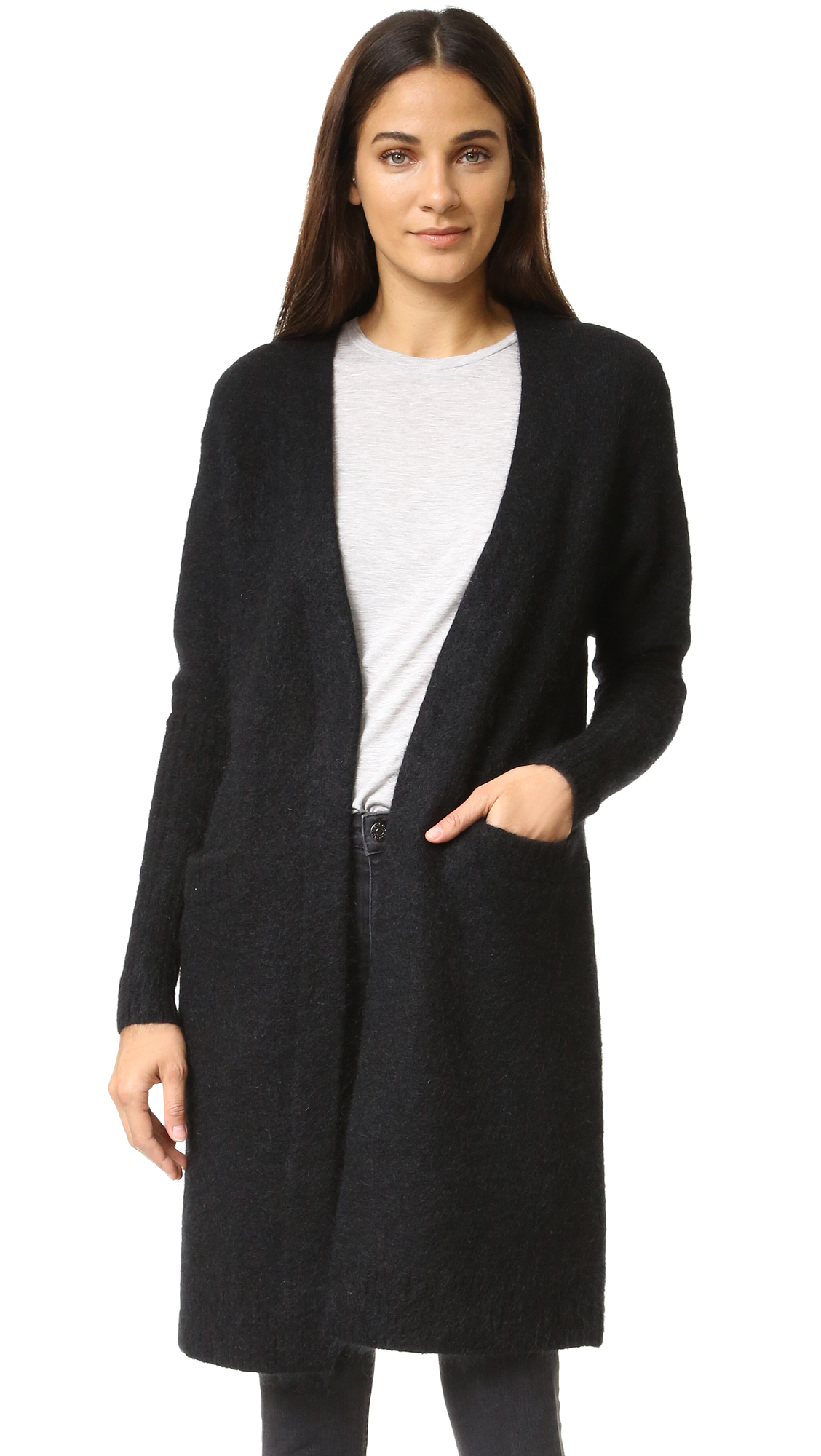 lyst acne studios raya mohair cardigan in black. Black Bedroom Furniture Sets. Home Design Ideas