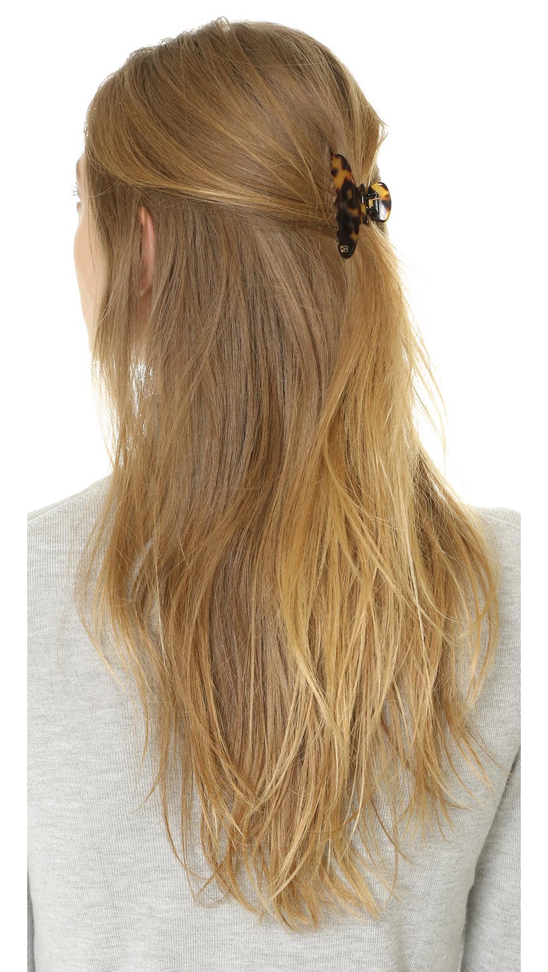 alexandre de paris jaw hair clip in brown lyst