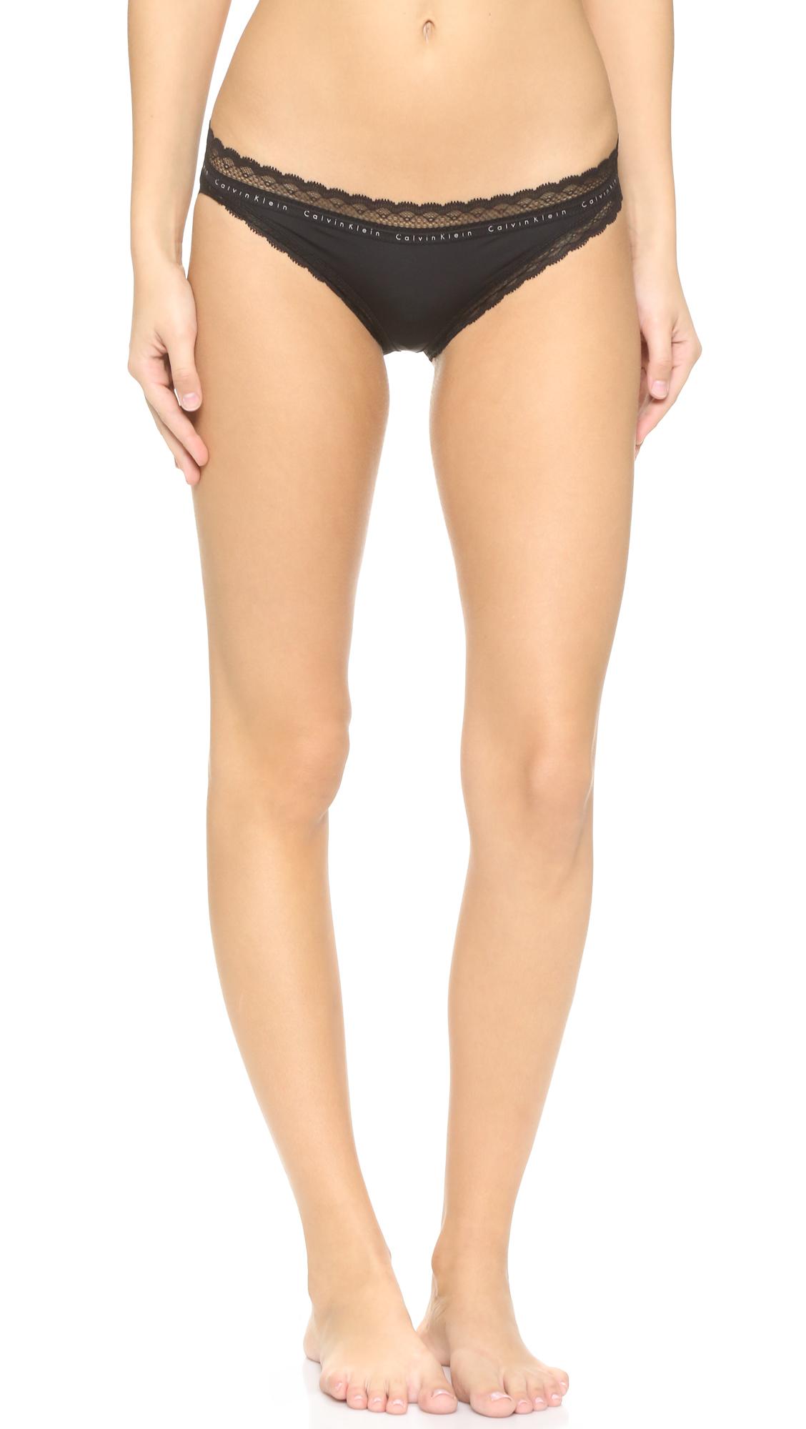 Calvin klein signature logo bikini sale hot