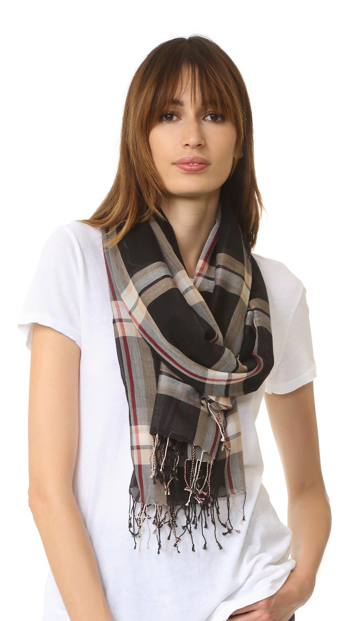 club monaco leary scarf in black lyst