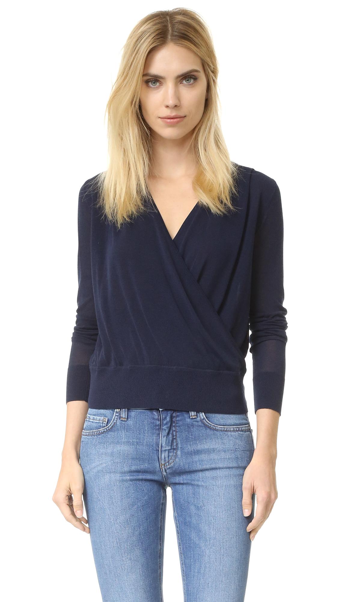 lyst diane von furstenberg paz sweater in blue. Black Bedroom Furniture Sets. Home Design Ideas