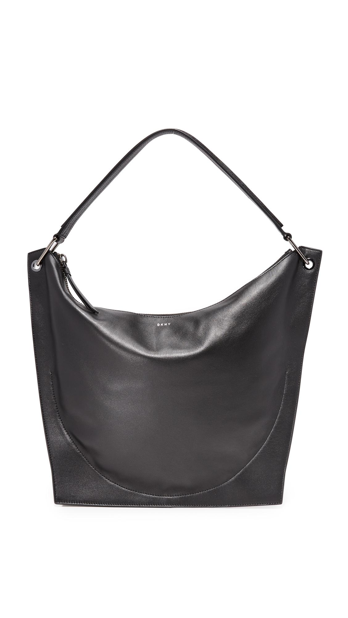 b384e58e60 Dkny Molded Hobo Bag in Black - Lyst