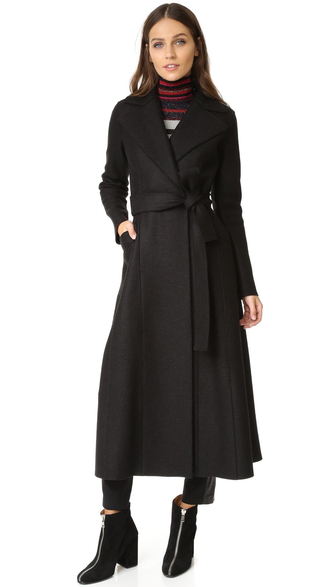 lyst harris wharf london long duster coat in brown. Black Bedroom Furniture Sets. Home Design Ideas