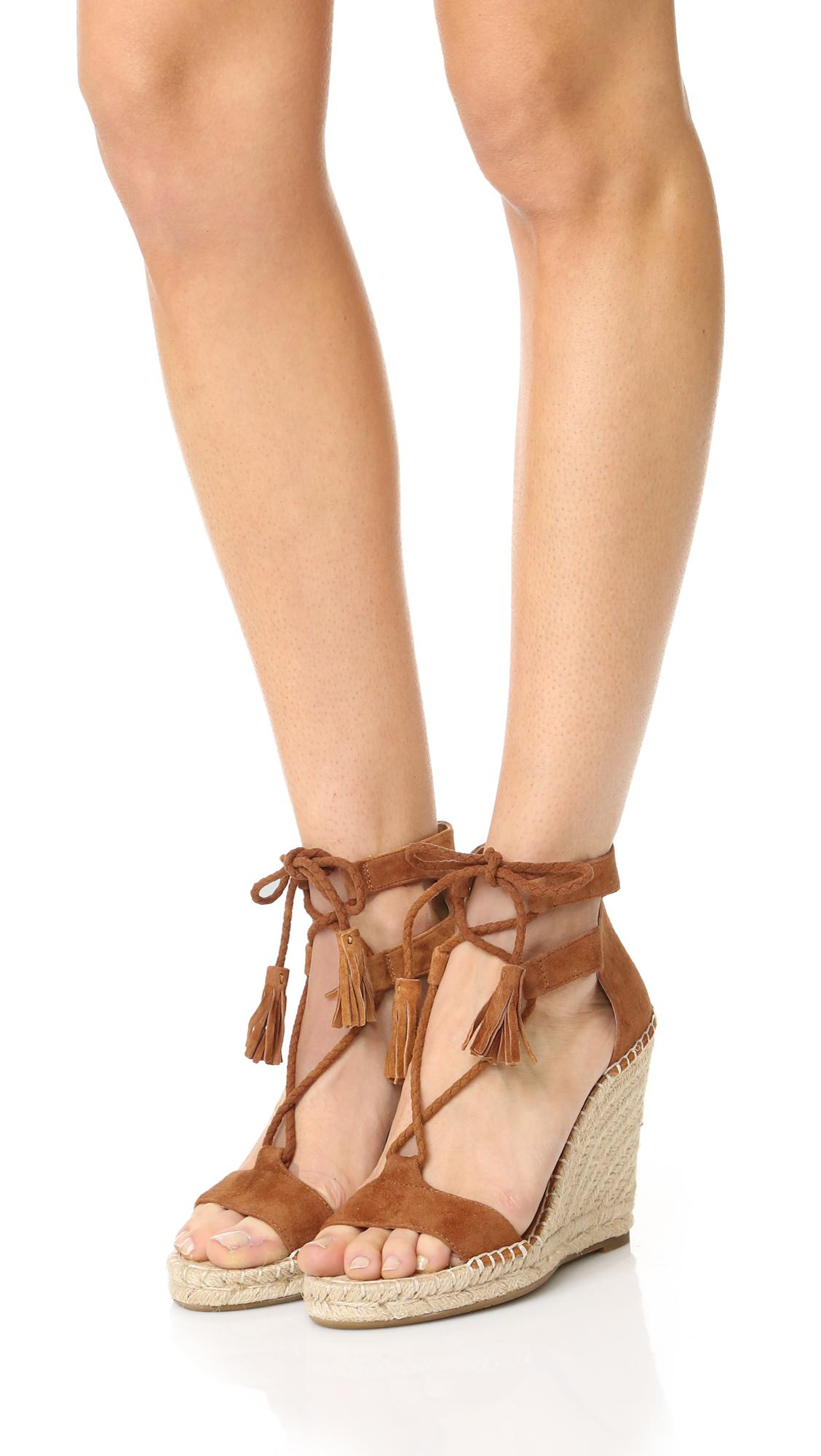 Lyst Joie Delilah Lace Up Sandals In Brown