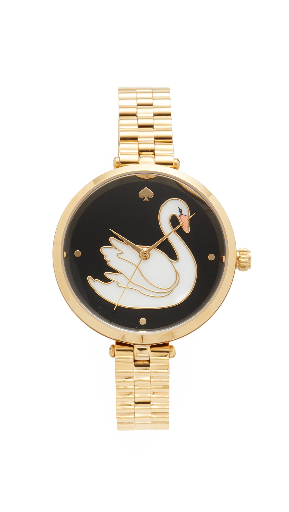 kate spade new york swan watch in metallic lyst. Black Bedroom Furniture Sets. Home Design Ideas