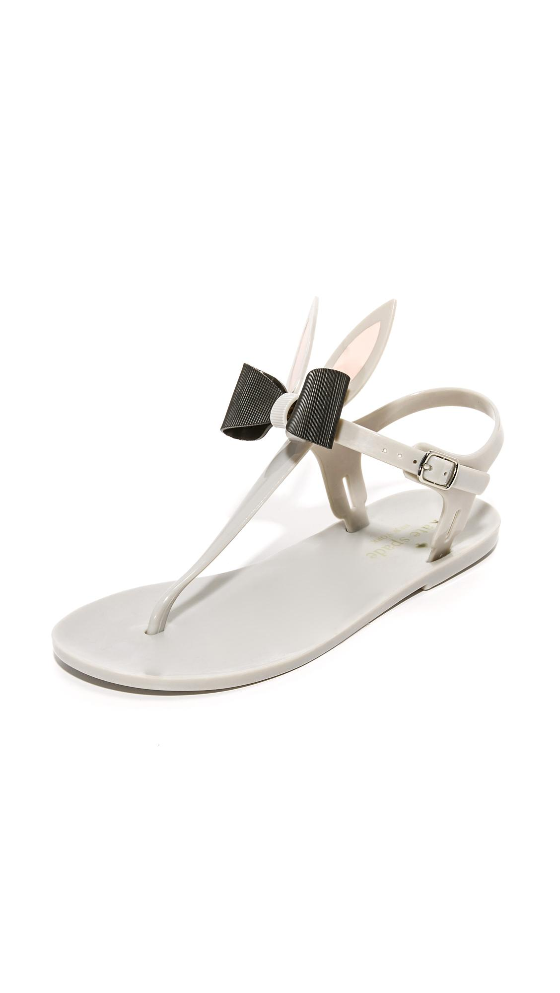 Kate Spade Freda Jelly Sandals In Gray Lyst