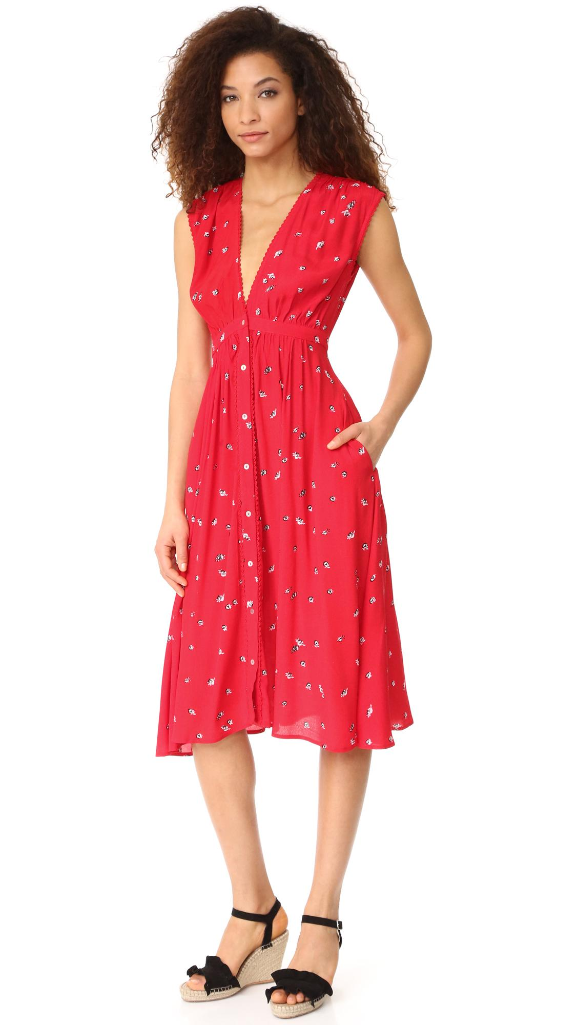 Knot Sisters Secret Garden Dress In Red Lyst