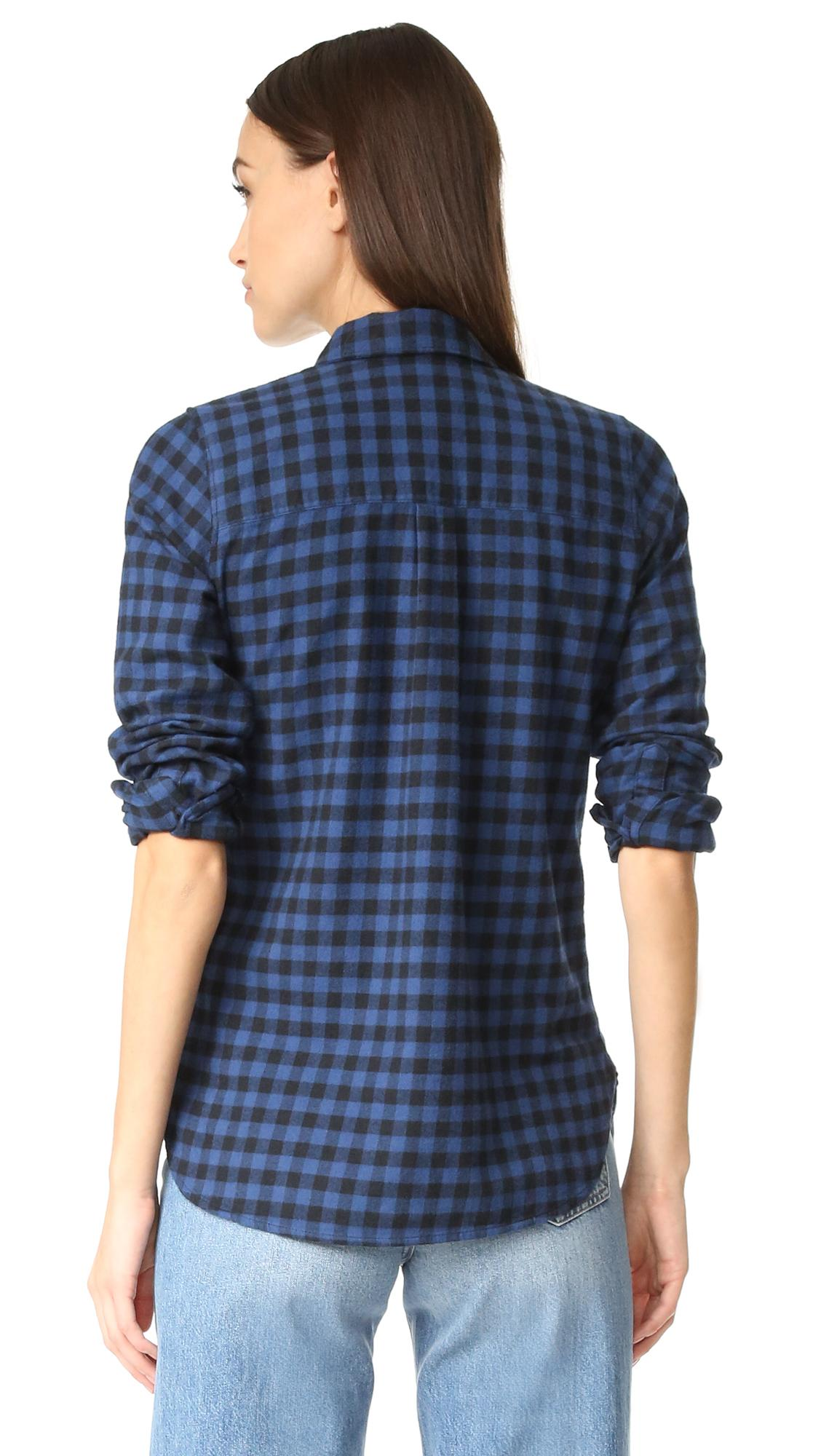 Lyst madewell slim button down shirt in blue for Slim button down shirt
