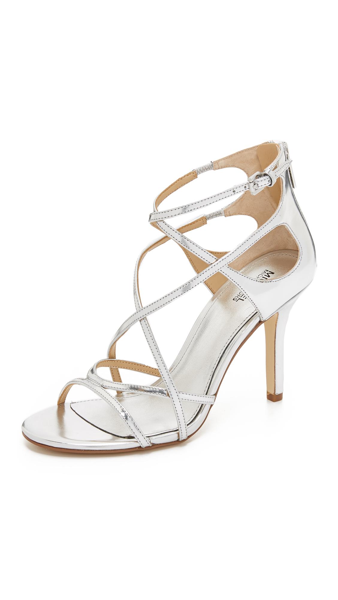 3dacc313a Lyst - Michael Michael Kors Linette Sandals in Metallic