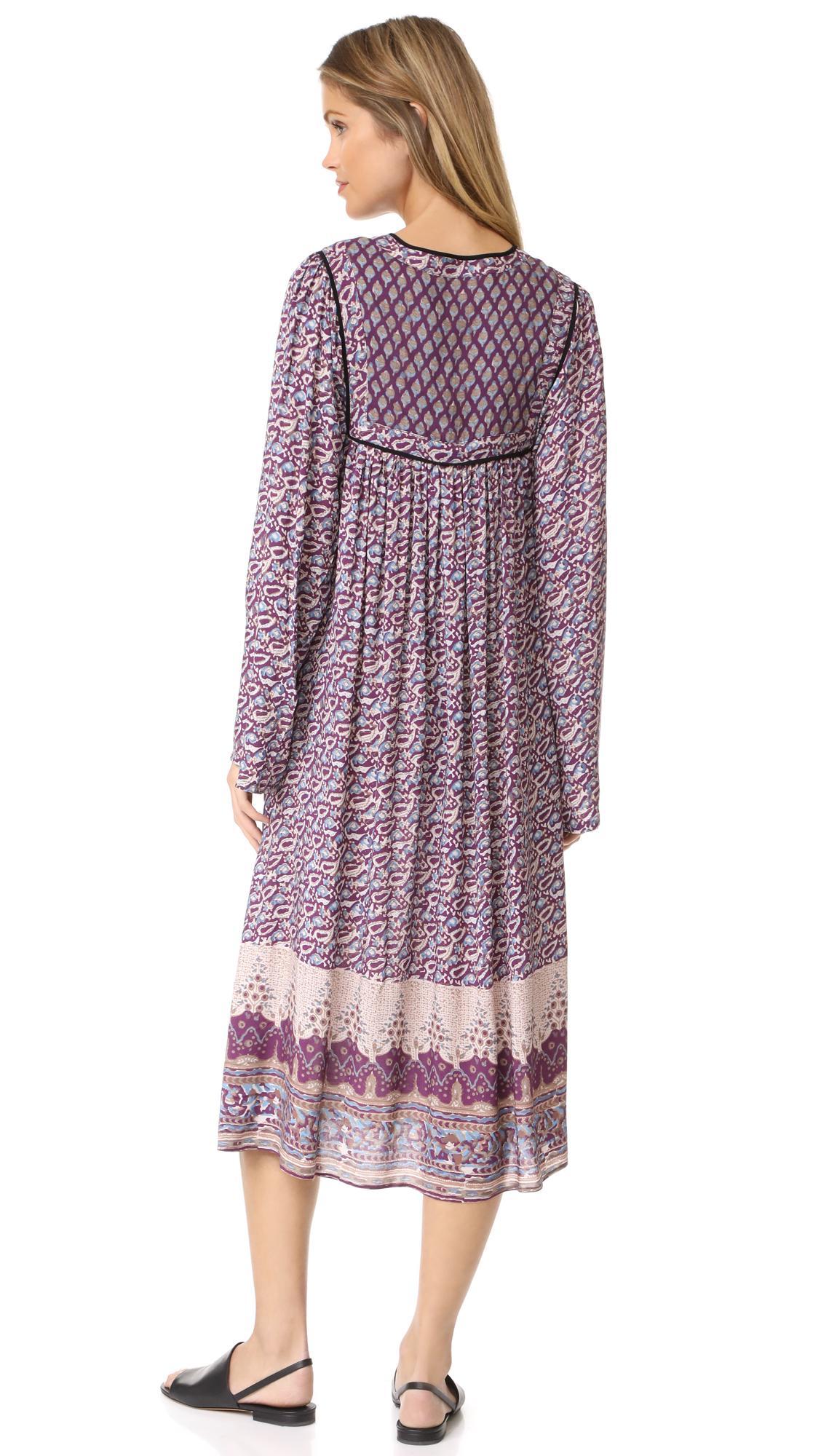 3f24d428fa61c Lyst - Nightcap Moonlight Boho Dress in Purple