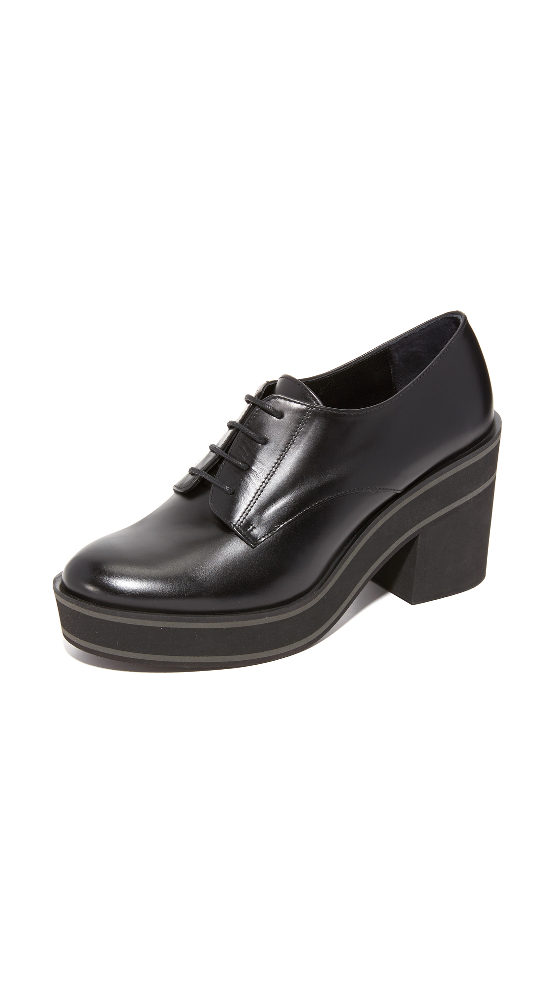 Paloma Barcelo Black Flatform Shoes