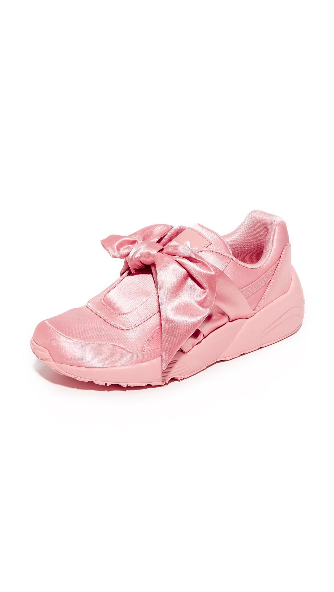 83bed24de47476 Lyst - PUMA Fenty X Bow Trinomic Sneakers in Pink