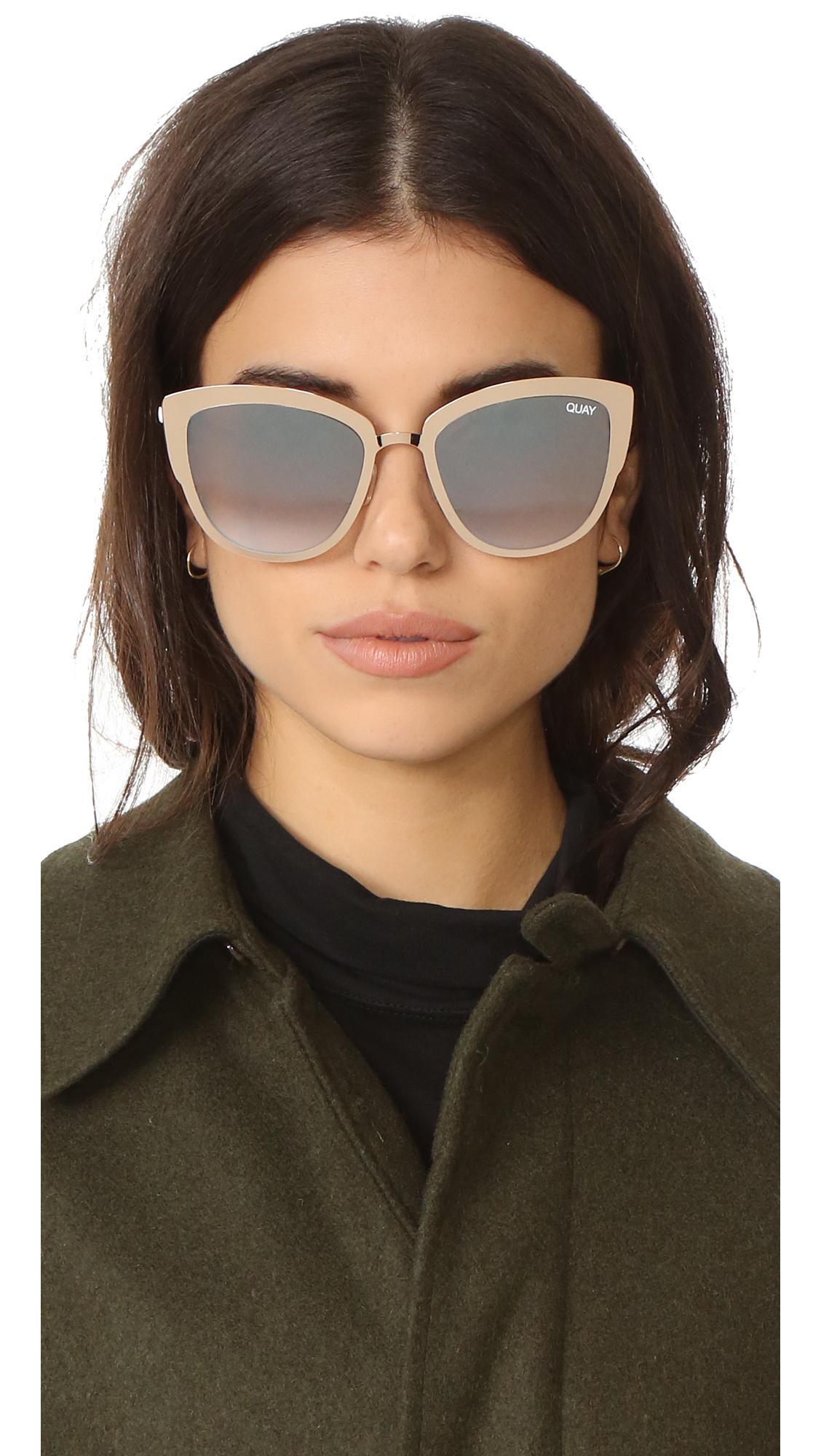 Lyst Quay Supergirl Sunglasses In Metallic