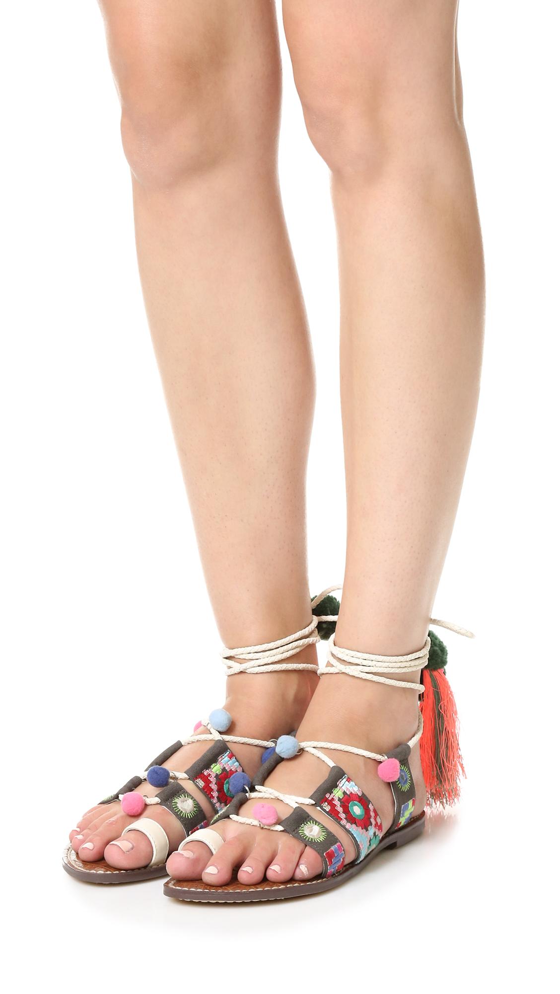 72f8f3b28e1646 Lyst - Sam Edelman Gretchen Leather Sandals