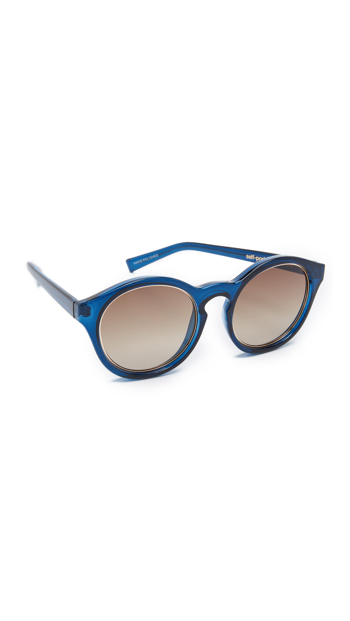5940c59aaf Lyst - Self-Portrait X Le Specs Edition Four Sunglasses in Blue
