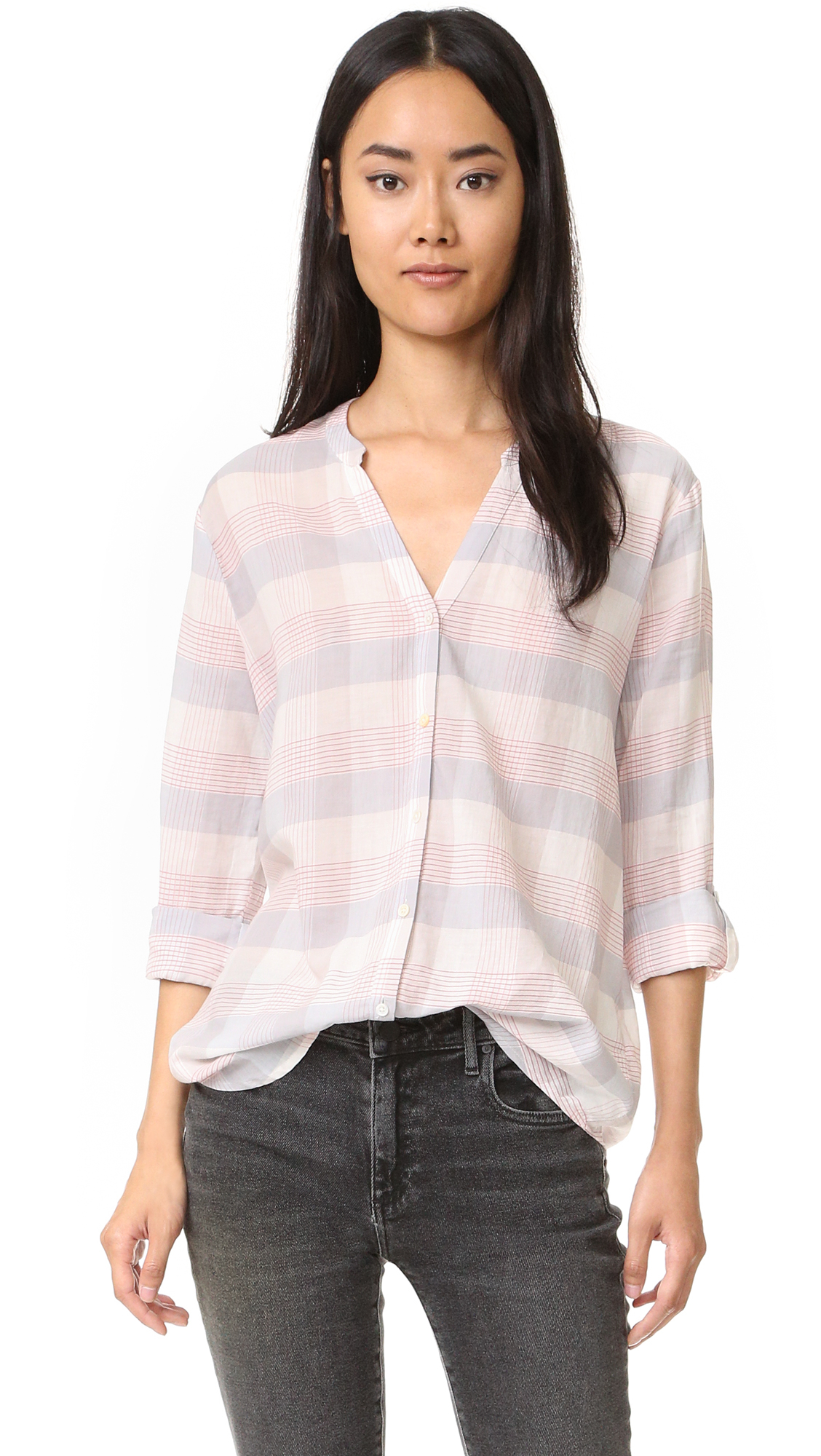 Soft joie dane shirt lyst for Soft joie plaid shirt