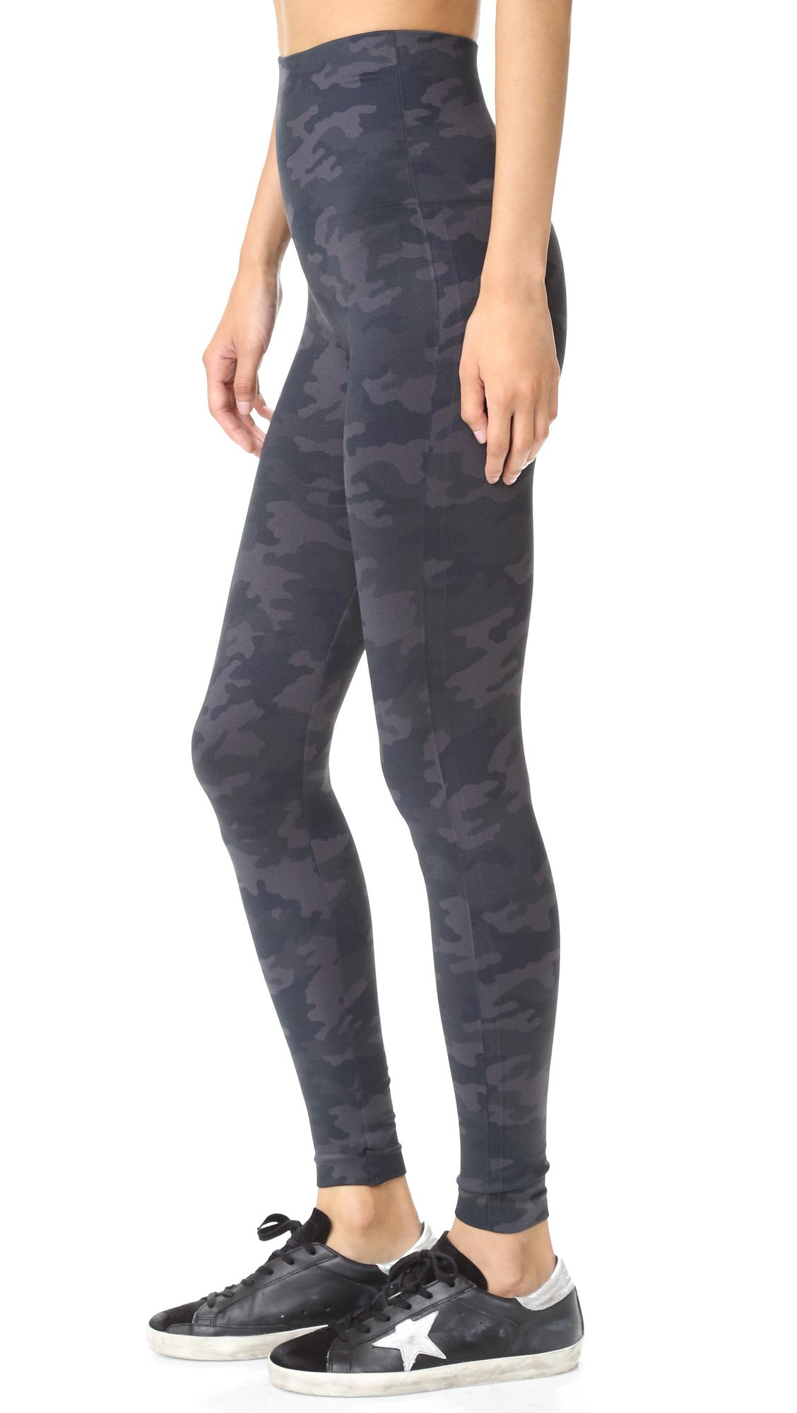 Spanx Seamless Camo Leggings in Black