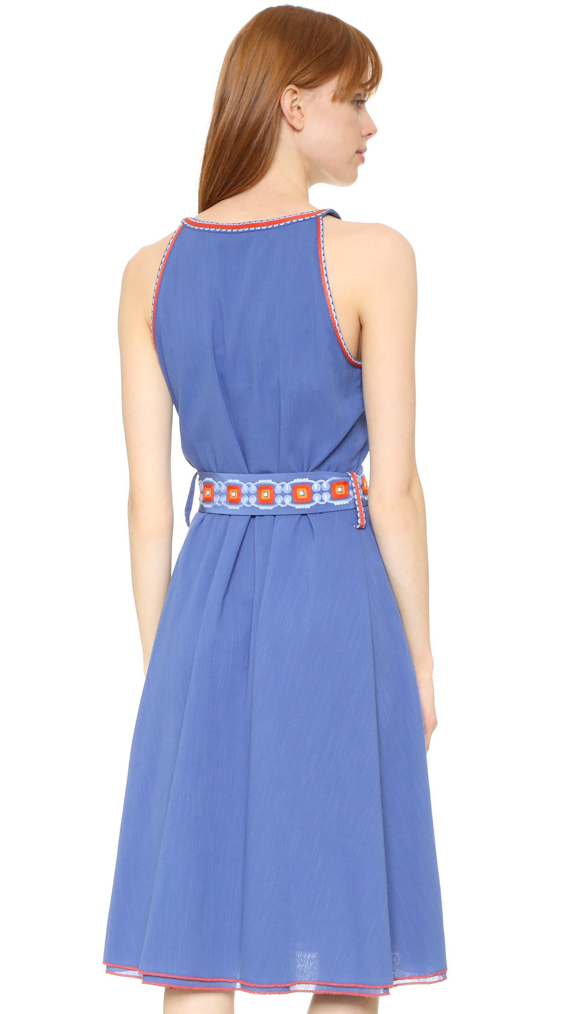 Tory burch savannah dress in blue lyst for Tory burch fashion island