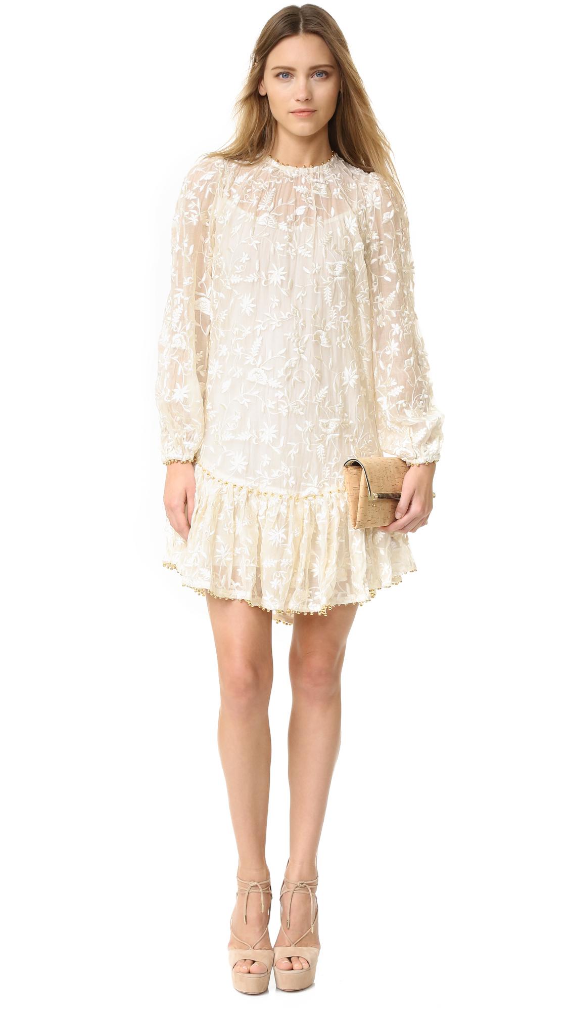 Zimmermann master embroidered dress in white lyst