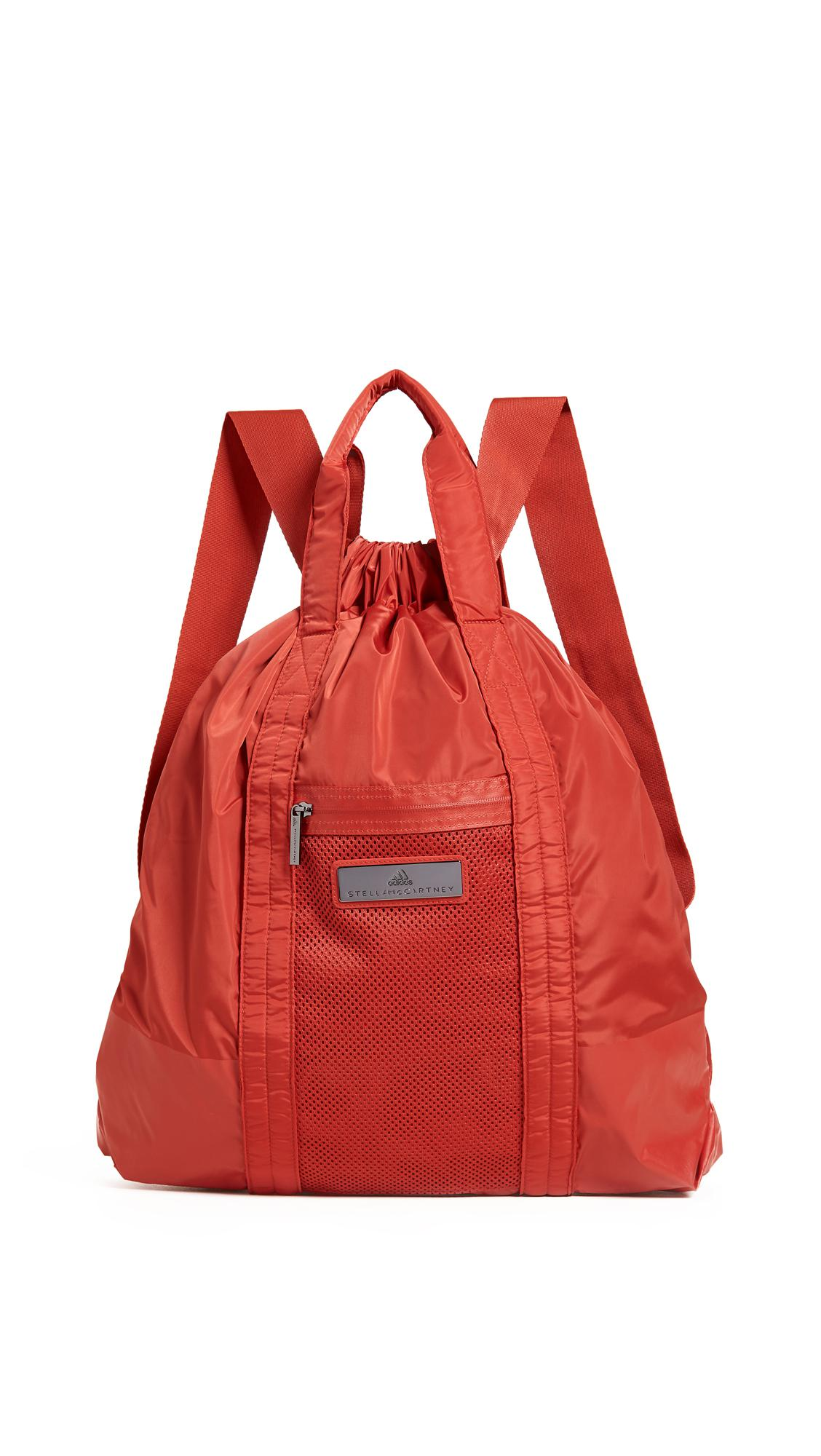 Lyst - adidas By Stella McCartney Gym Sack Backpack in Red 63914874f6