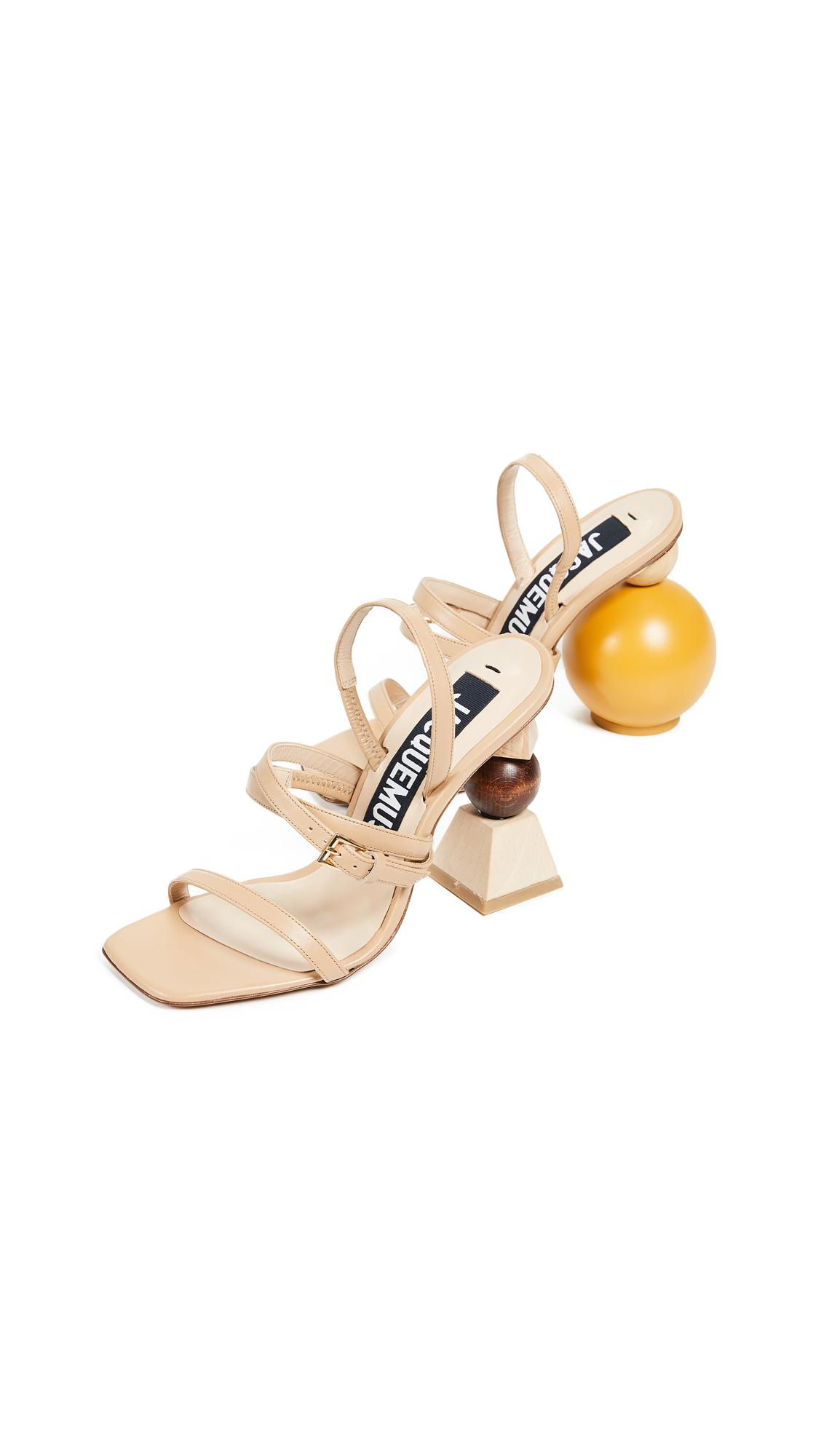 08cfc49ee57 Lyst - Jacquemus Les Bahia Sandals in Natural
