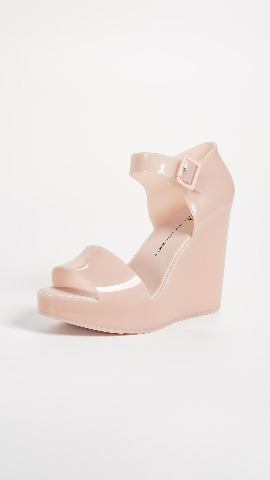 f29847b6d71 Lyst - Melissa Mar Wedge Sandals in Pink