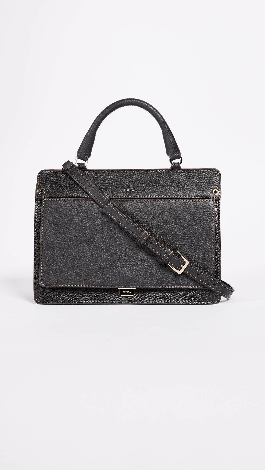9aab1cf36a349 Lyst - Furla Like Small Top Handle Bag in Black