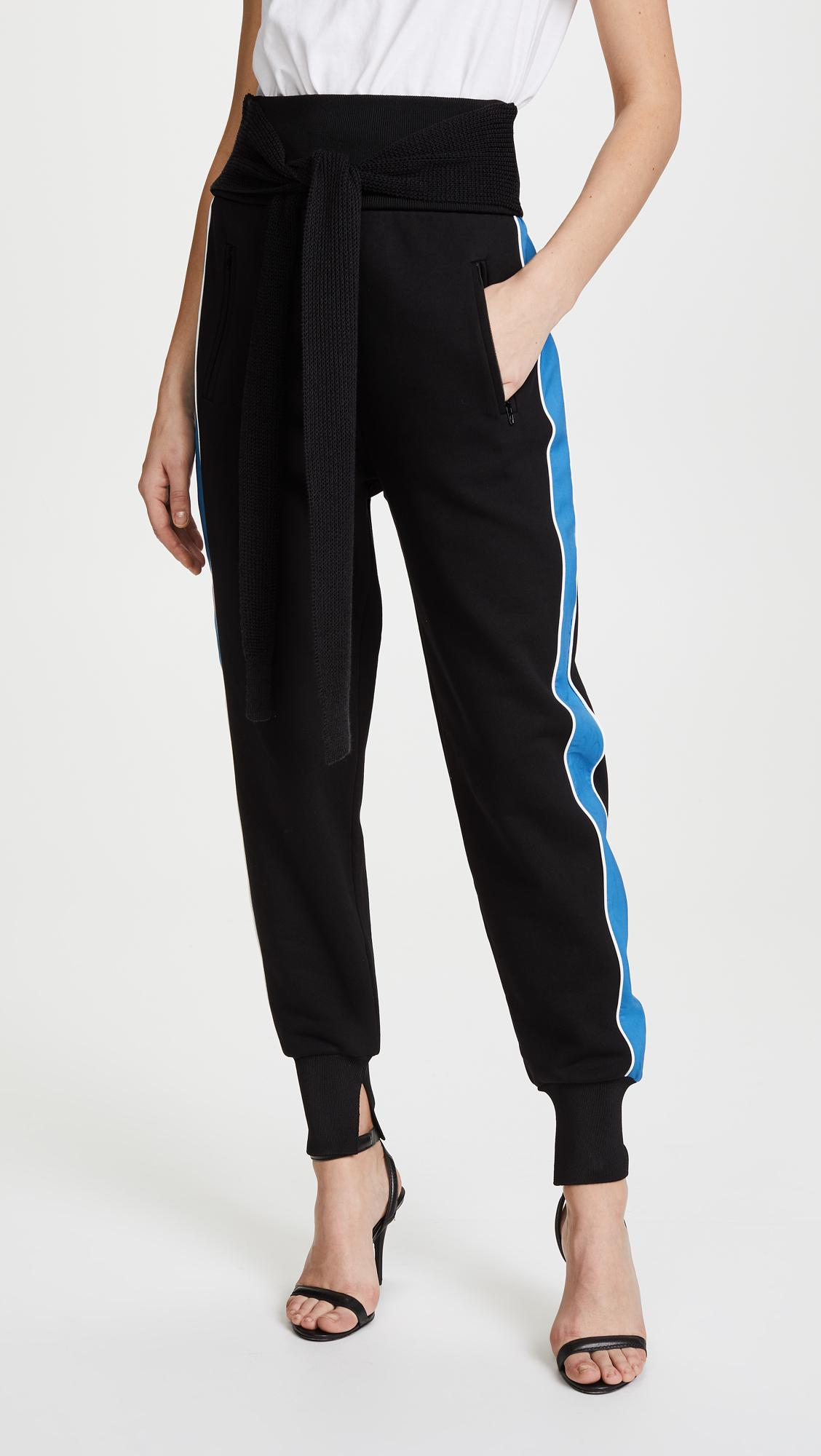 Lyst - 3.1 Phillip Lim Jogger Pants With Tie in Black