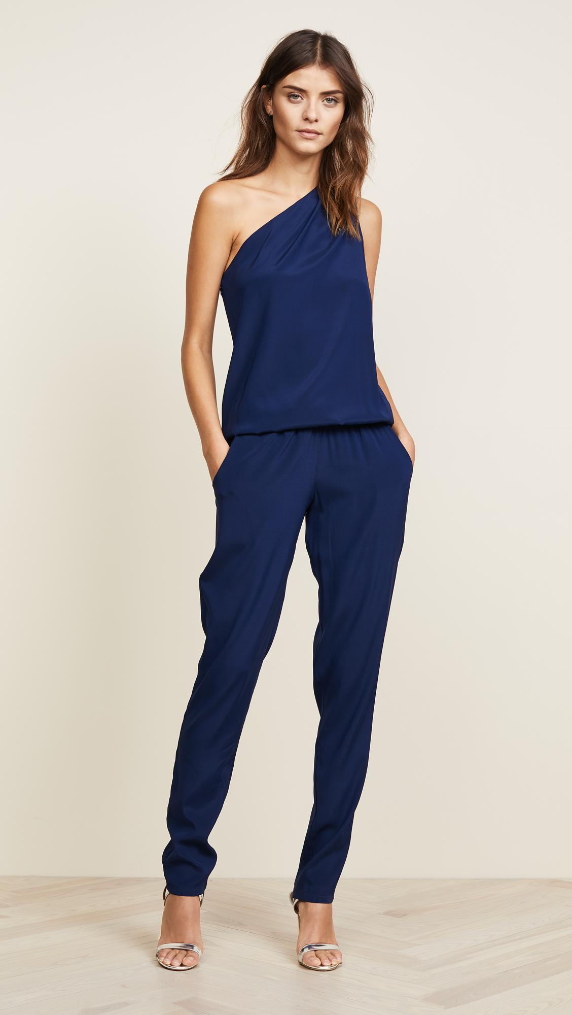 7ab4a263ba95 Ramy Brook Lulu One Shoulder Jumpsuit in Blue - Save 14% - Lyst