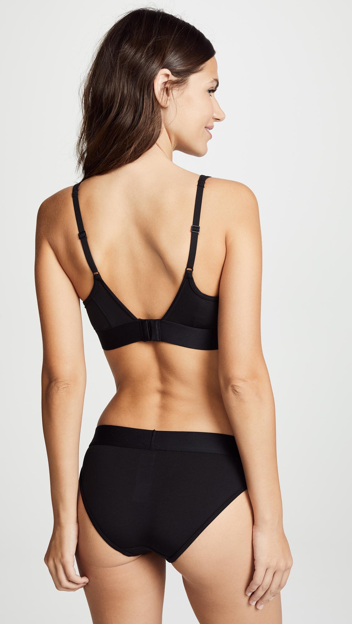 a8734b71d46 Calvin Klein - Black Tonal Logo Lightly Lined Bralette - Lyst. View  fullscreen