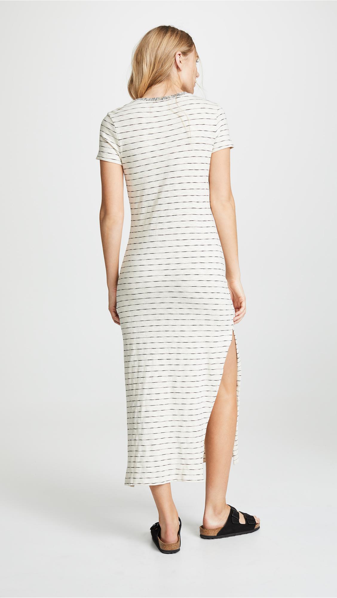 f15d76fe3c7 Lyst - Three Dots Stripe T-shirt Dress