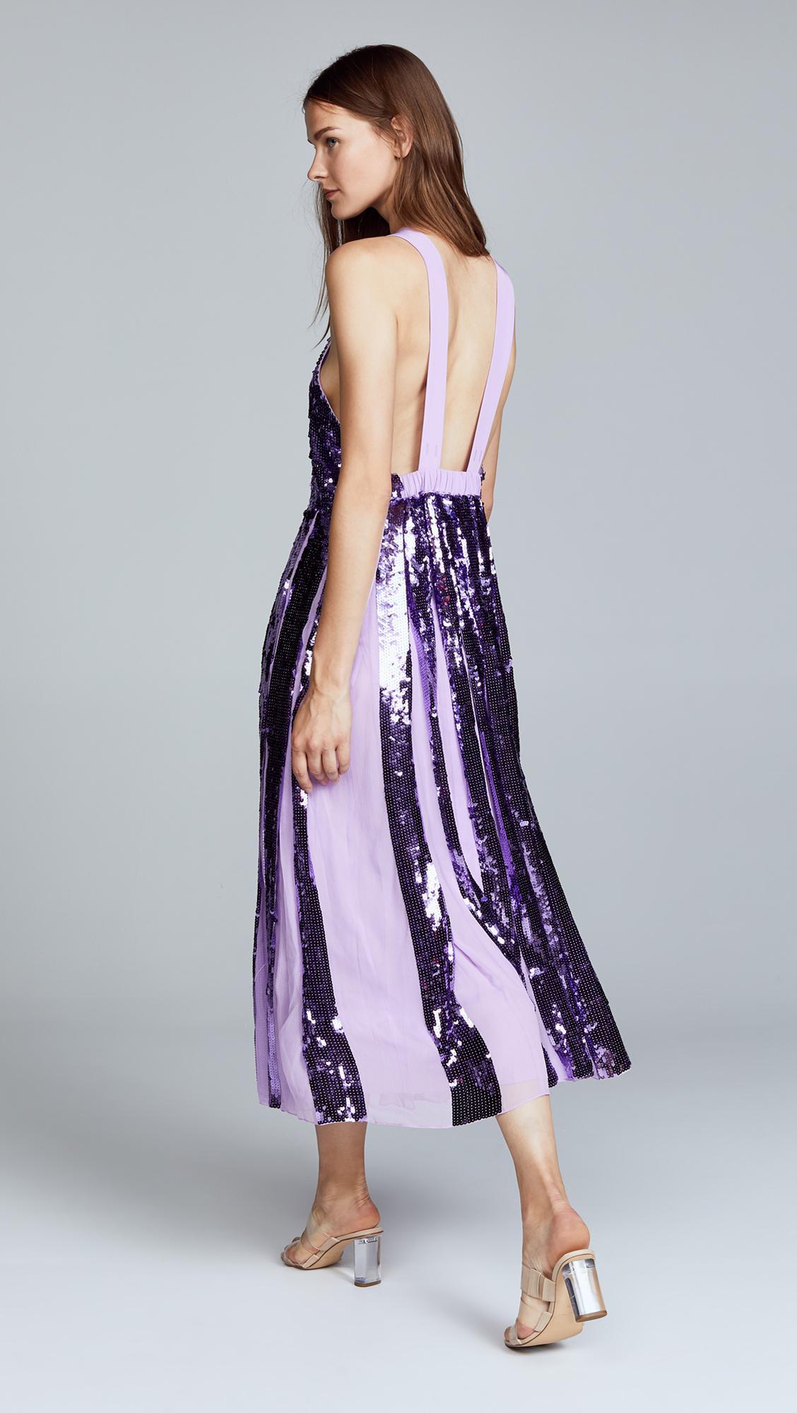 272790871f3 Tibi - Purple Sequin Overall Dress - Lyst. View fullscreen