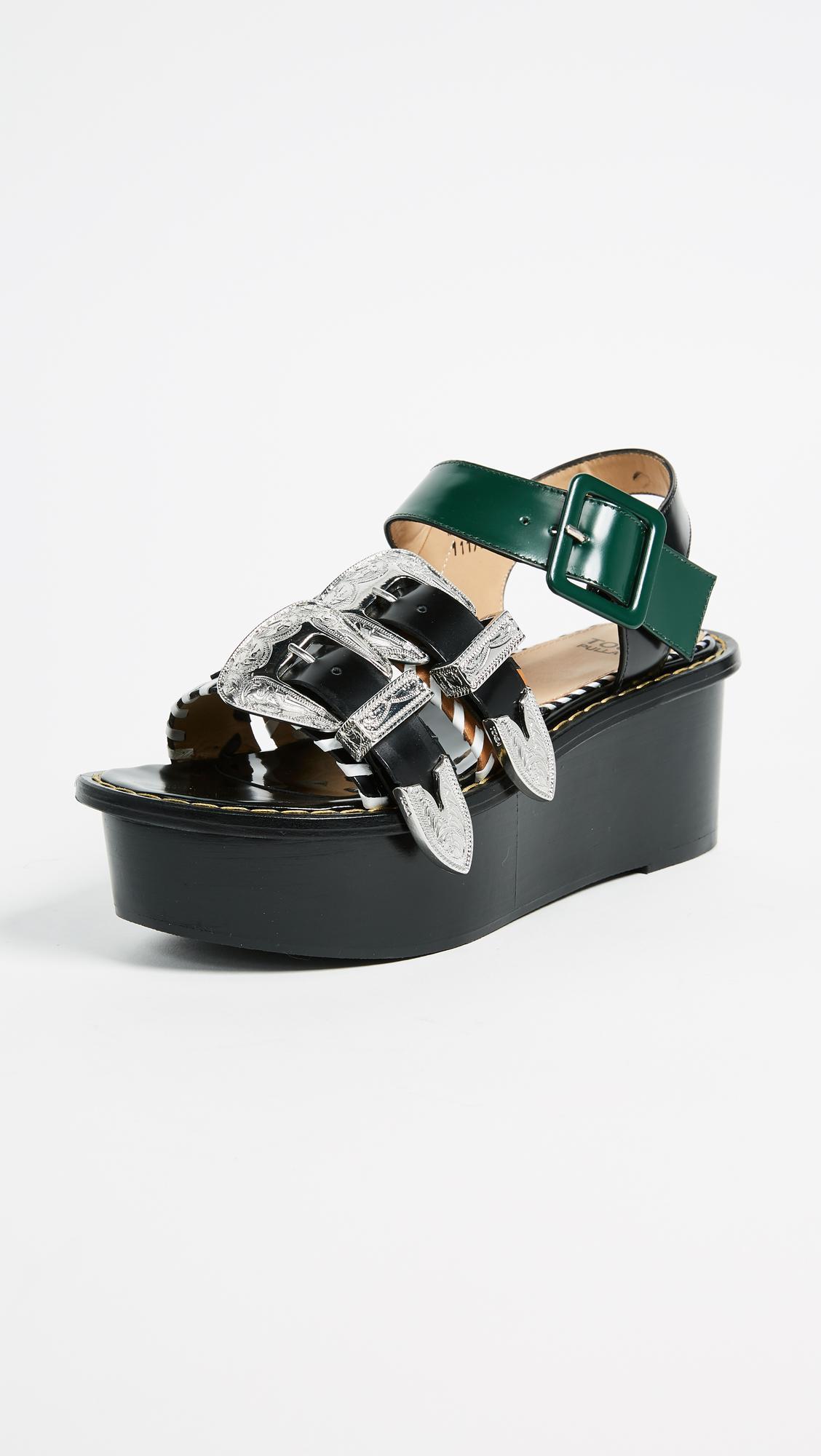 f4de89c72ea Lyst - Toga Pulla Flatform Sandals in Black