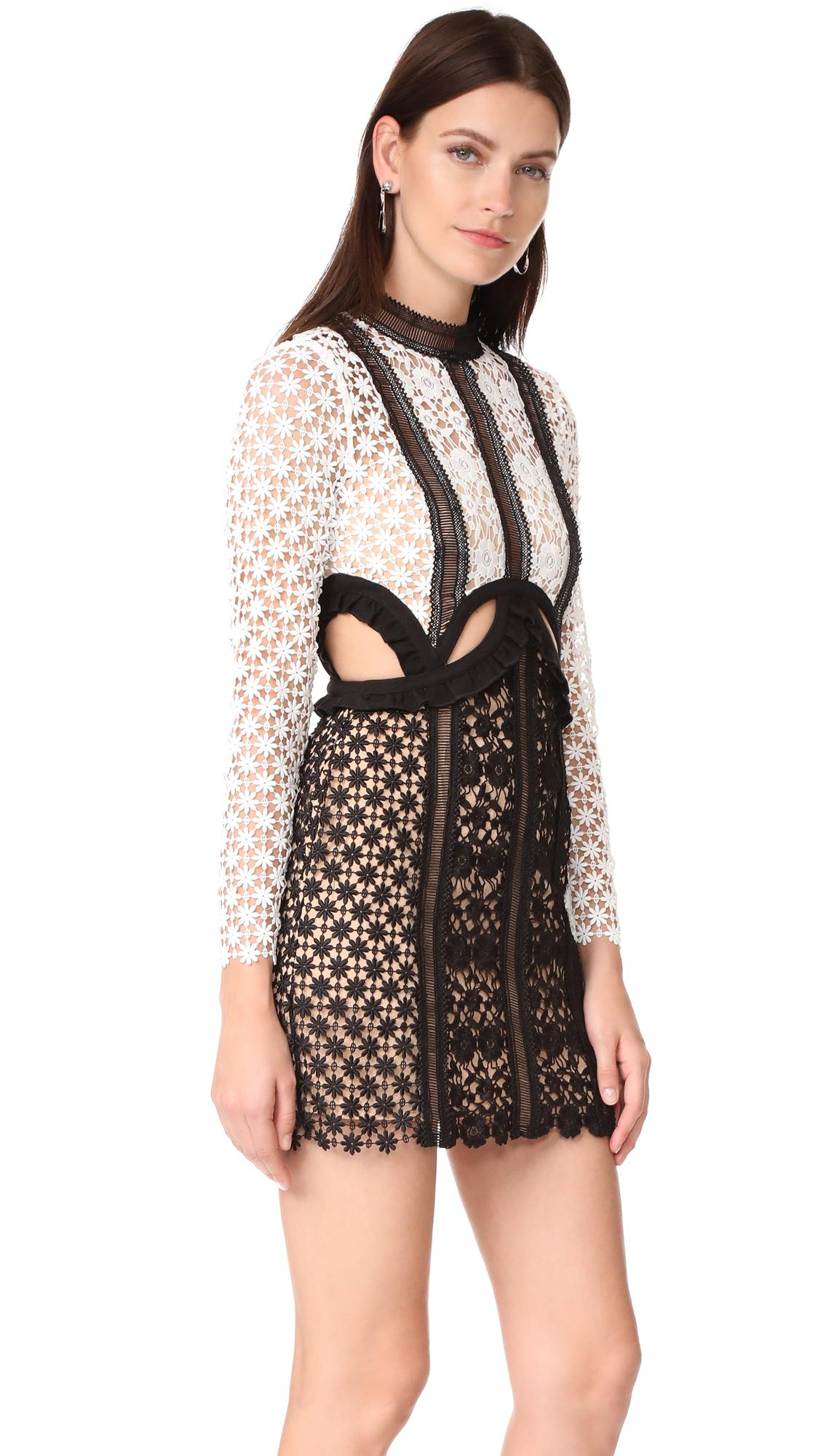 e7cd05ee050823 Lyst - Self-Portrait Payne Cutout Mini Dress in Black