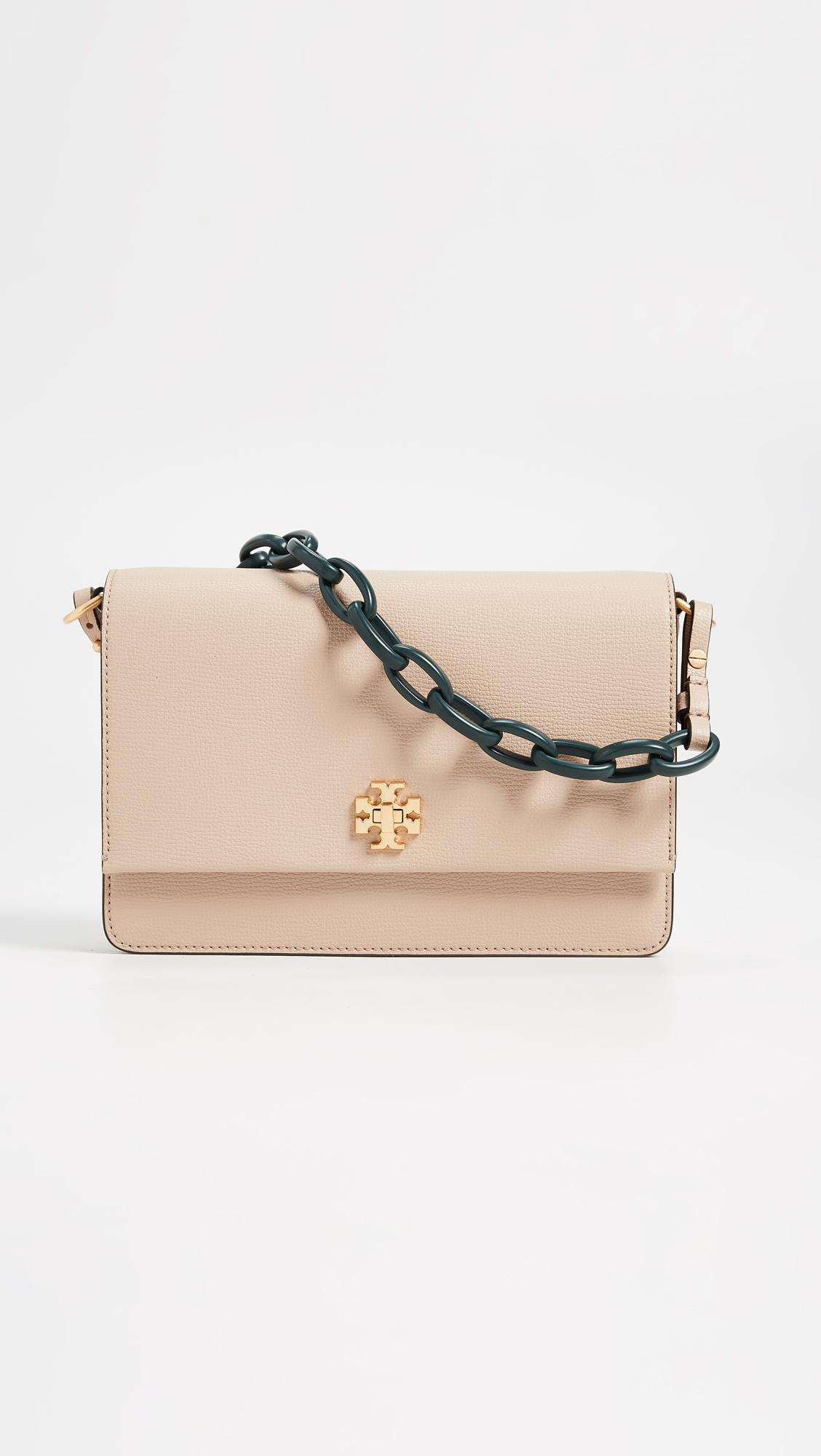 691b799a756eb Lyst - Tory Burch Kira Double Strap Shoulder Bag in Natural