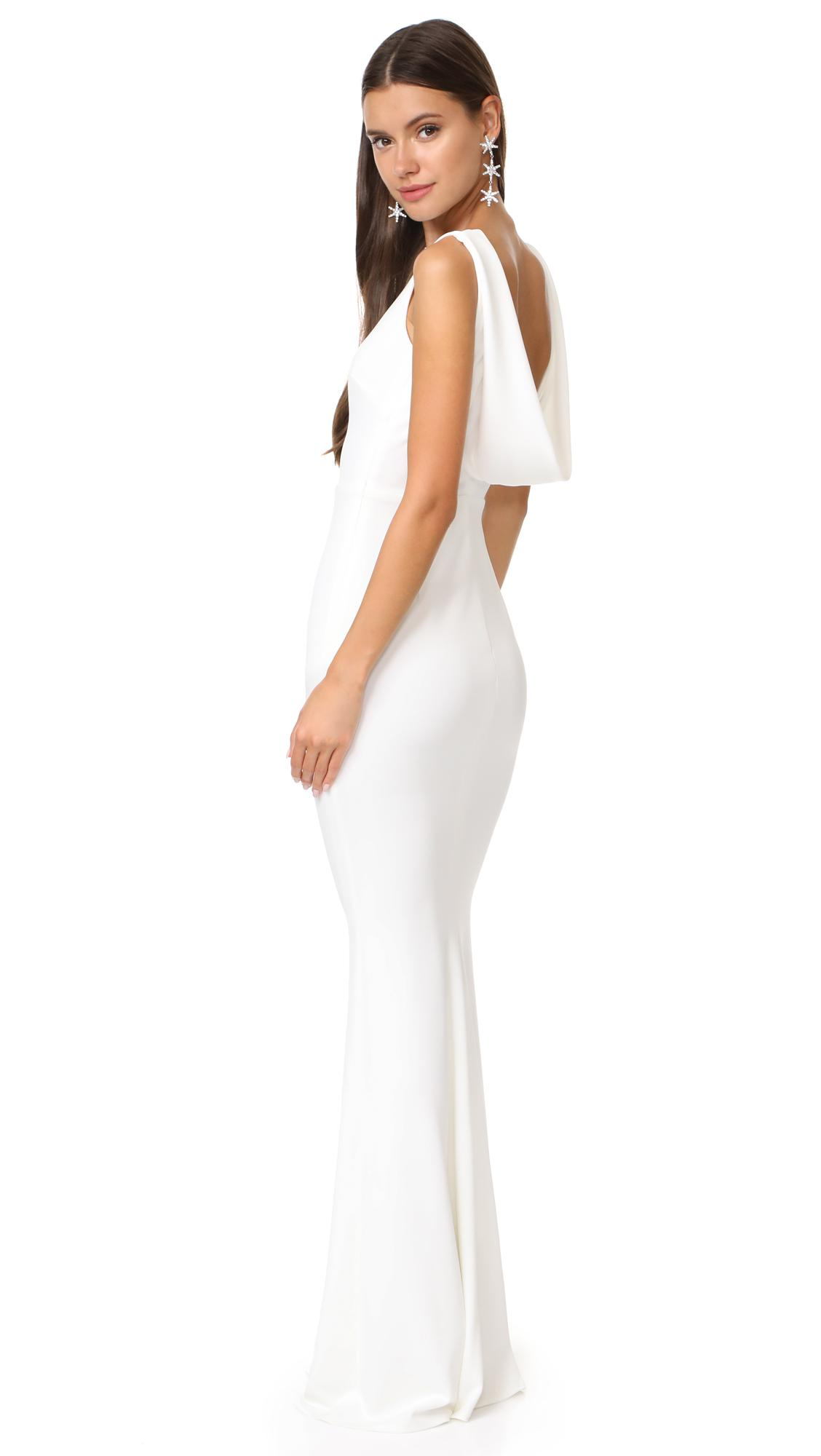 Katie May Vionnet Gown in White - Lyst