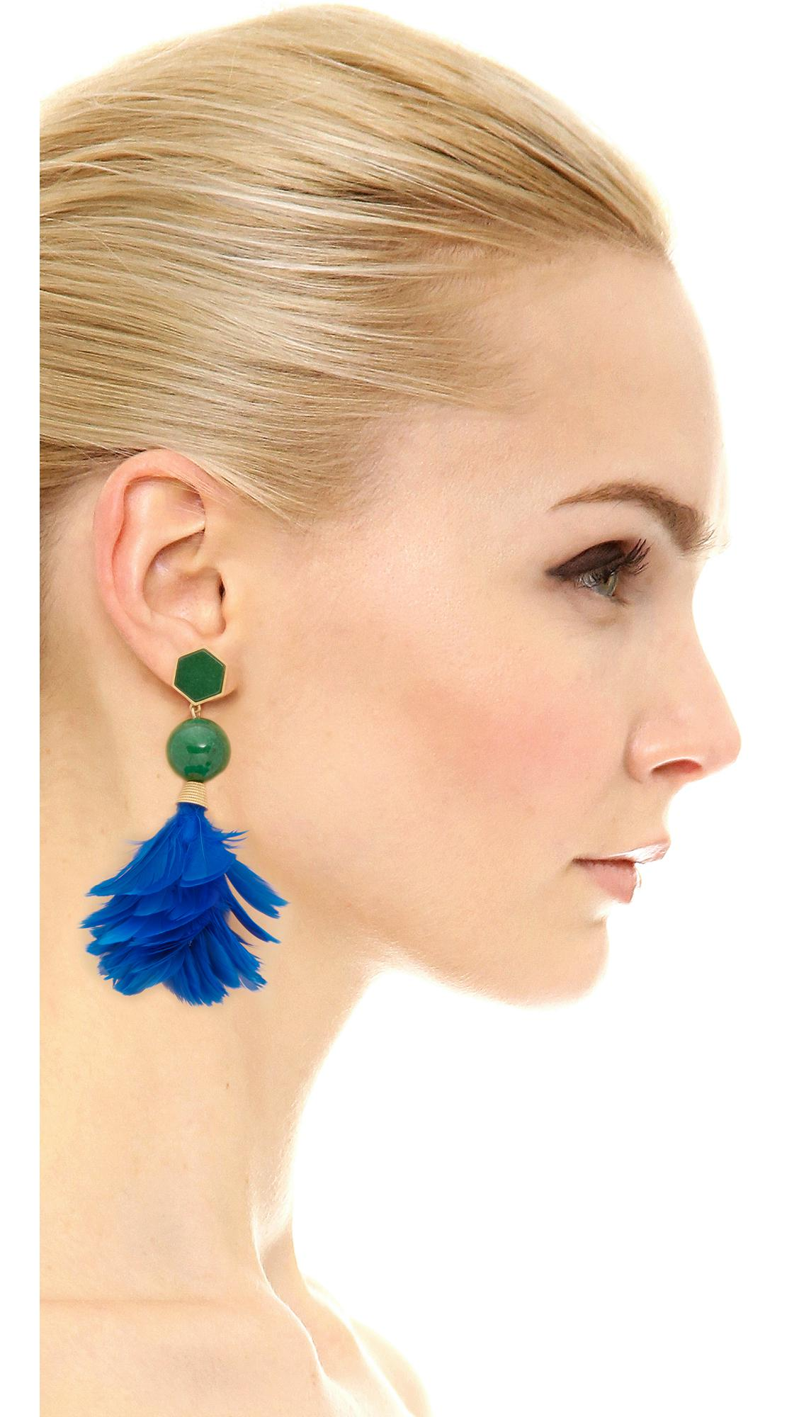 Tory Burch Feather Drop Earrings sZv3Kj2ei