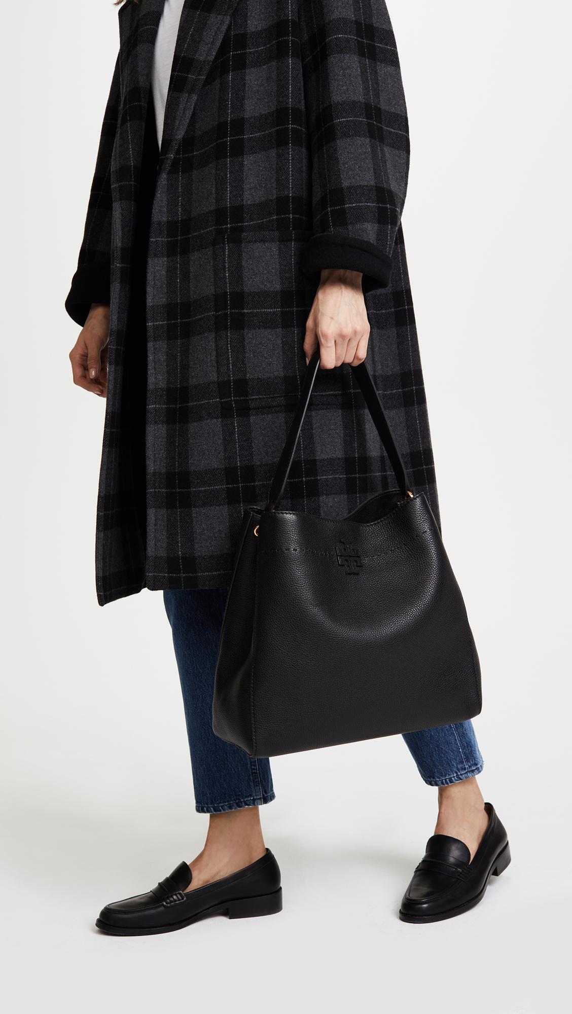 7b550ad1f463 Lyst - Tory Burch Mcgraw Hobo Bag in Black