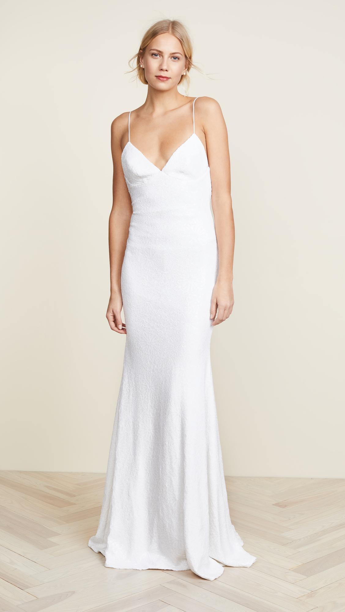 Lyst - Katie May Sequence Naked Lanai Gown in White