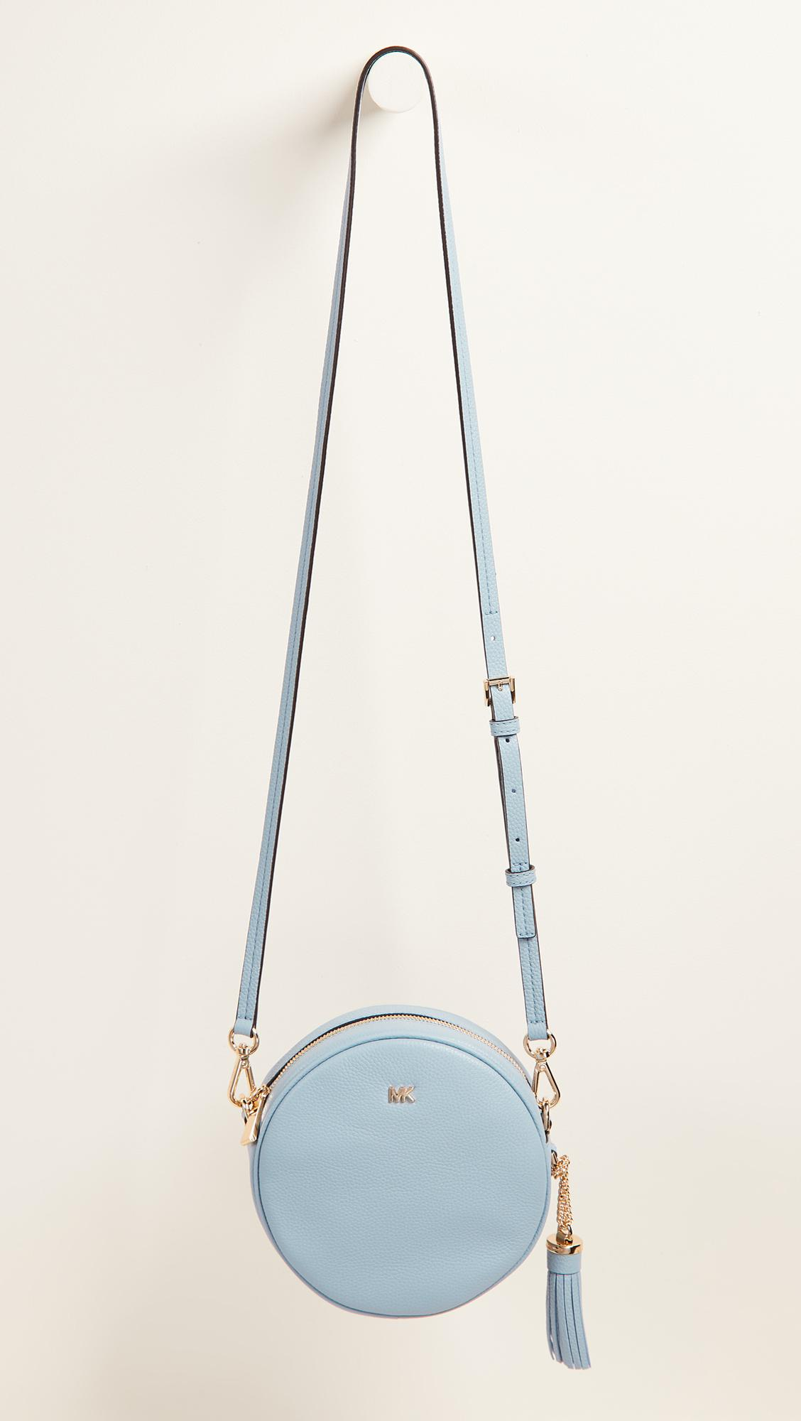 cc647a66cbbf MICHAEL Michael Kors Medium Canteen Cross Body Bag in Blue - Lyst