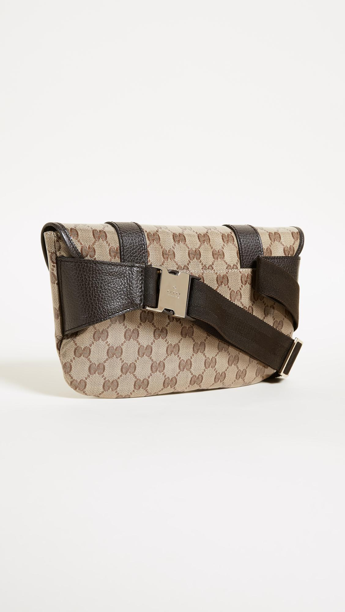 e6e8b4dff15ccf What Goes Around Comes Around Gucci Canvas Fanny Pack (previously ...