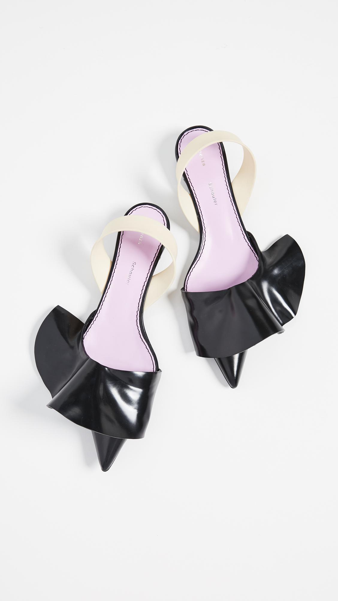 b991bfd1ec Proenza Schouler Ruffle Kitten Heel Flats in Black - Lyst