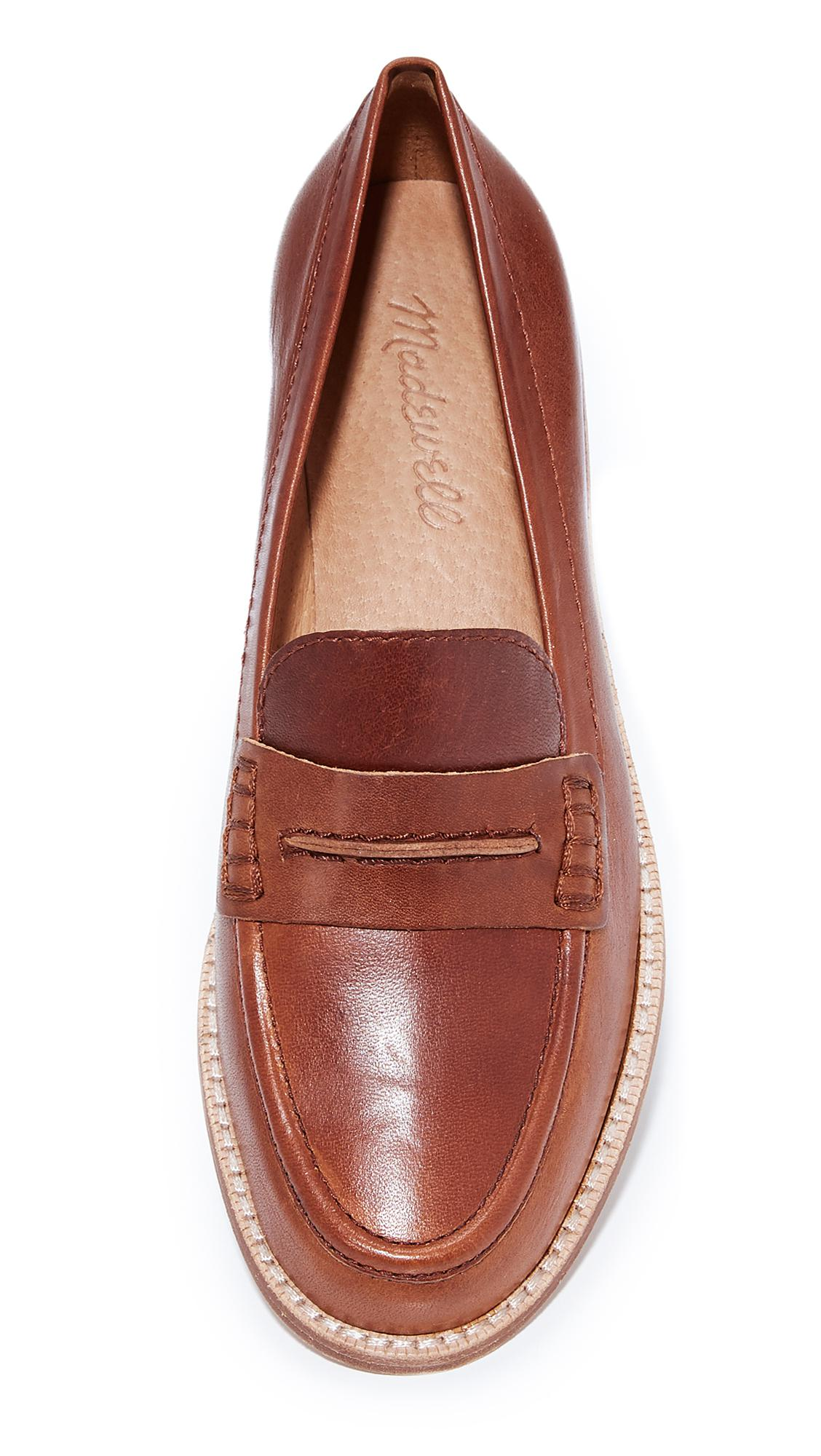1f4cd3455be Lyst - Madewell Elinor Loafers in Brown