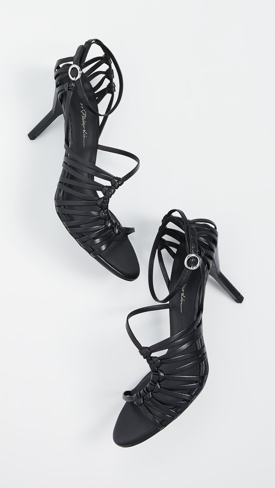 W2idhe9 3 Sandals Strappy Lim 75mm Black 1 Lily Phillip Lyst In CtQdhsr