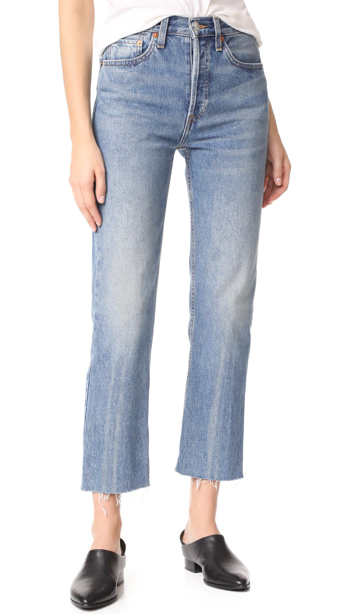 Clearance Buy Cheap View Womens High Rise Stovepipe Jeans Re/Done Pre Order For Sale Latest Collections Cheap Eastbay CYm3oYG