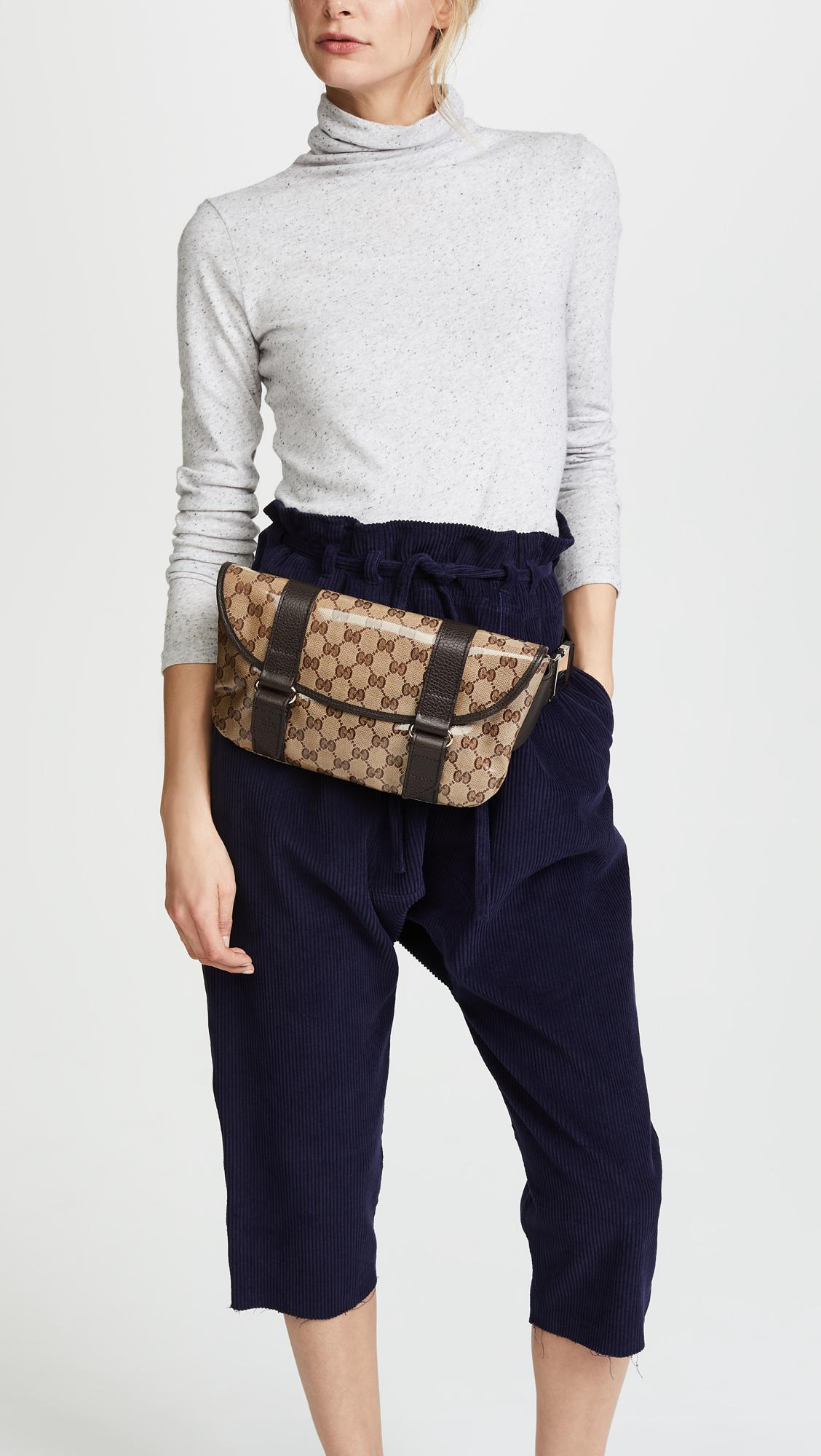 65eace1d8542 What Goes Around Comes Around Gucci Canvas Fanny Pack (previously ...
