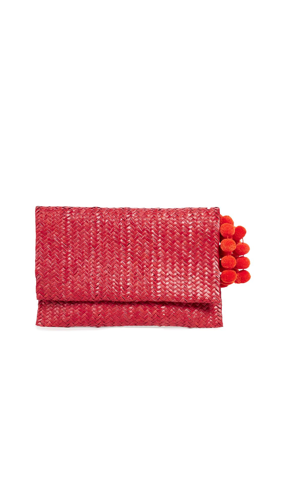 94ce1ba422 Lyst - Nannacay Amaryllis Clutch in Red
