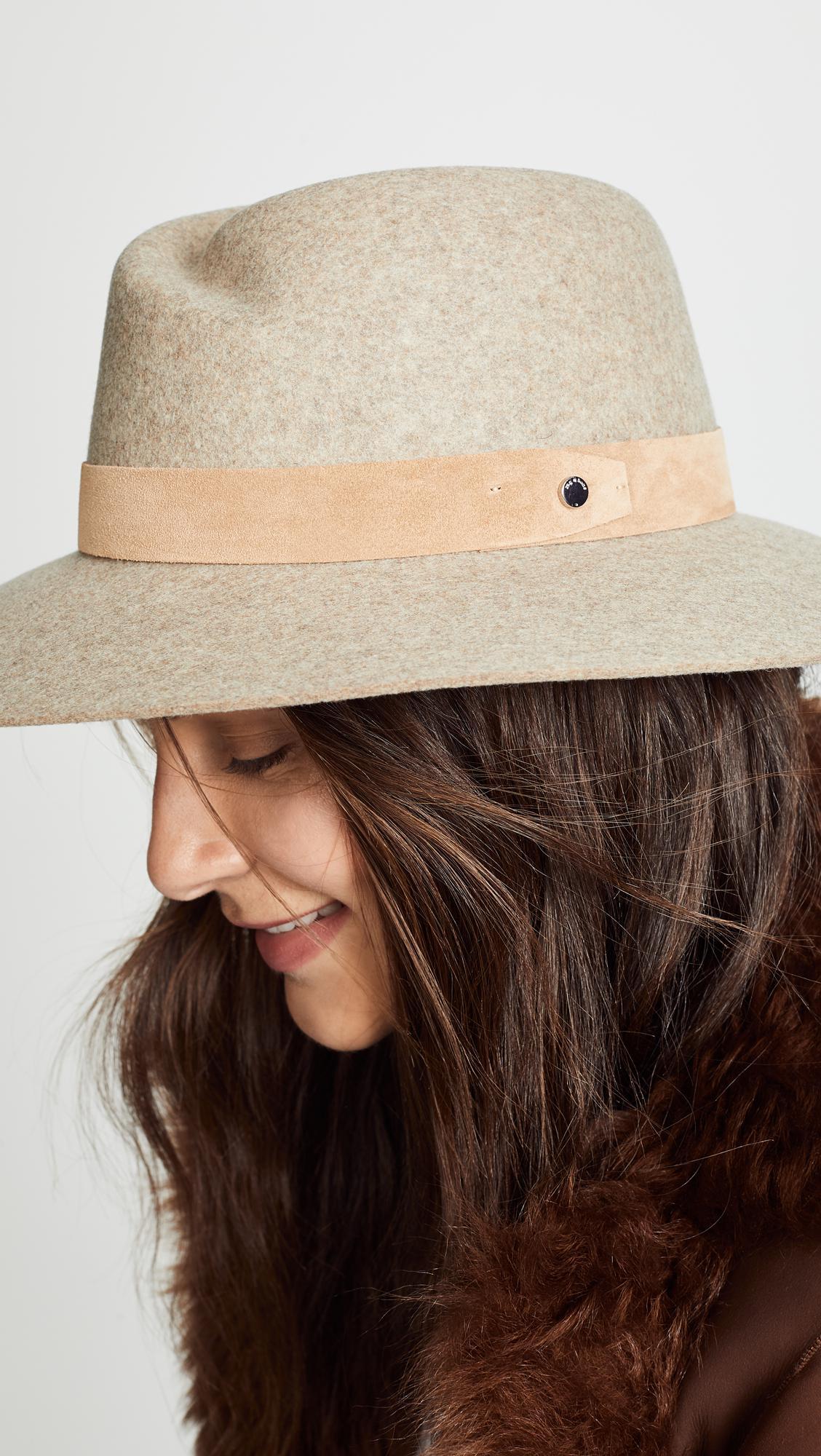 805b0c40ae548 Rag   Bone - Brown Zoe Fedora Hat - Lyst. View fullscreen